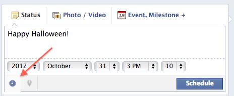 scheduled post