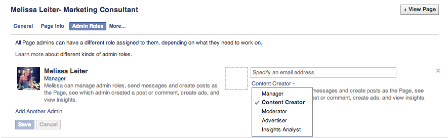 facebook business page glossary