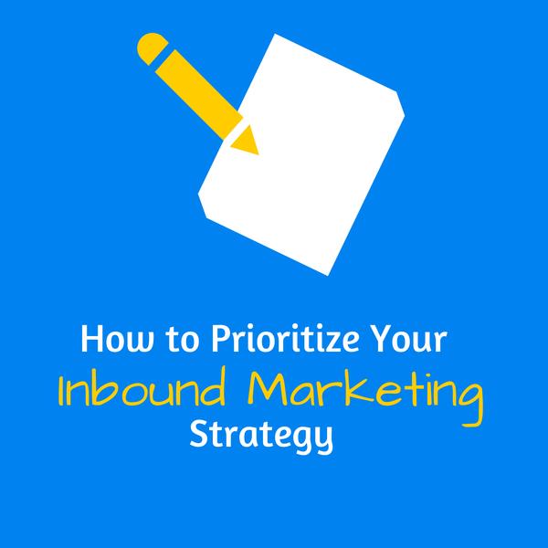 prioritize your inbound marketing efforts