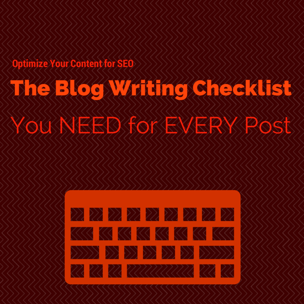 Blog Writing Checklist