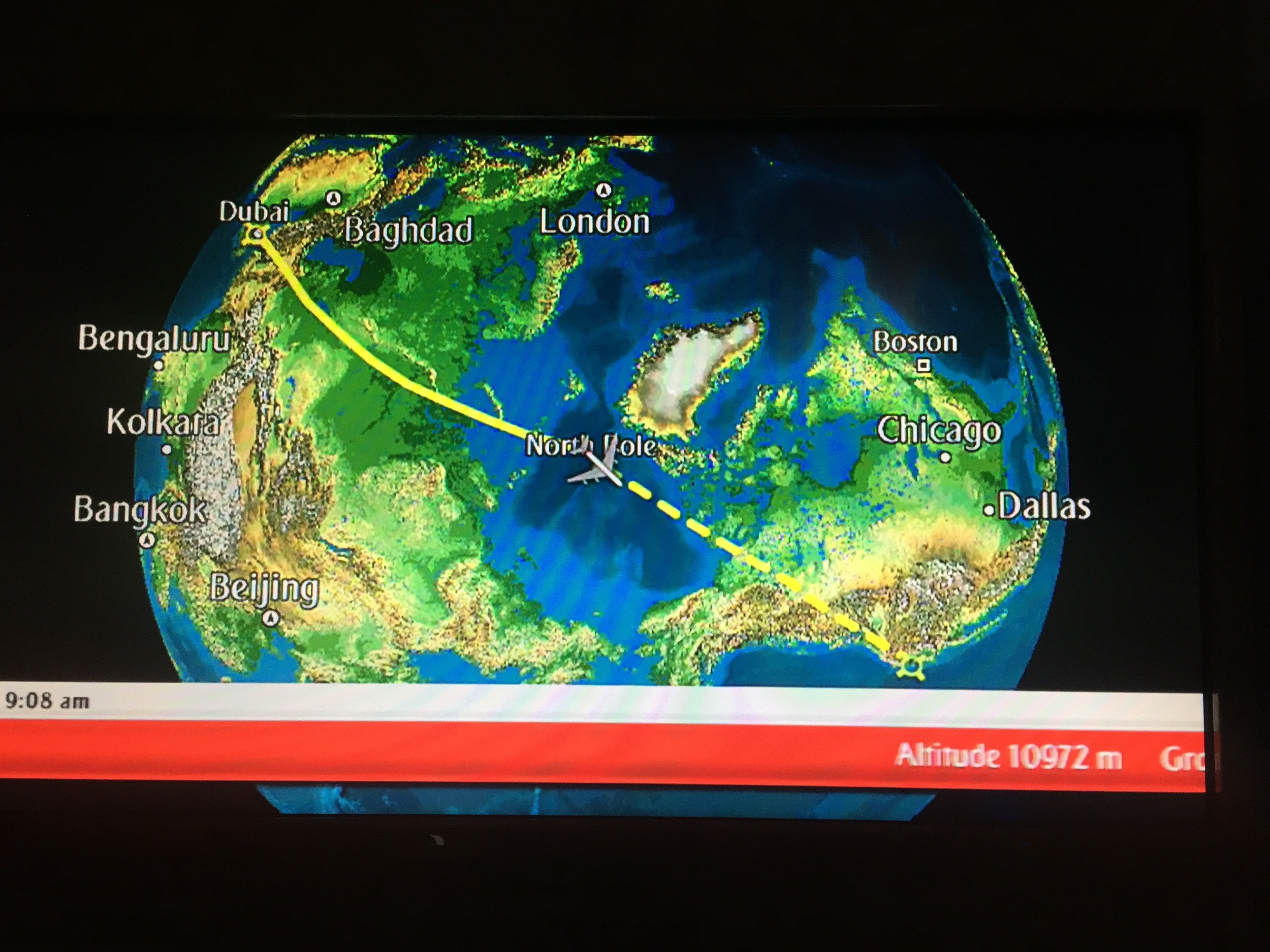 Over the North Pole