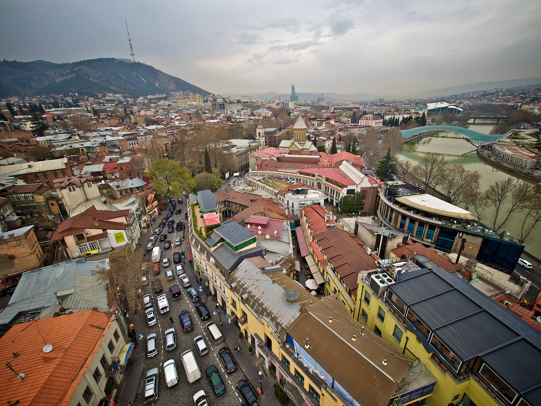View over Tbilisi