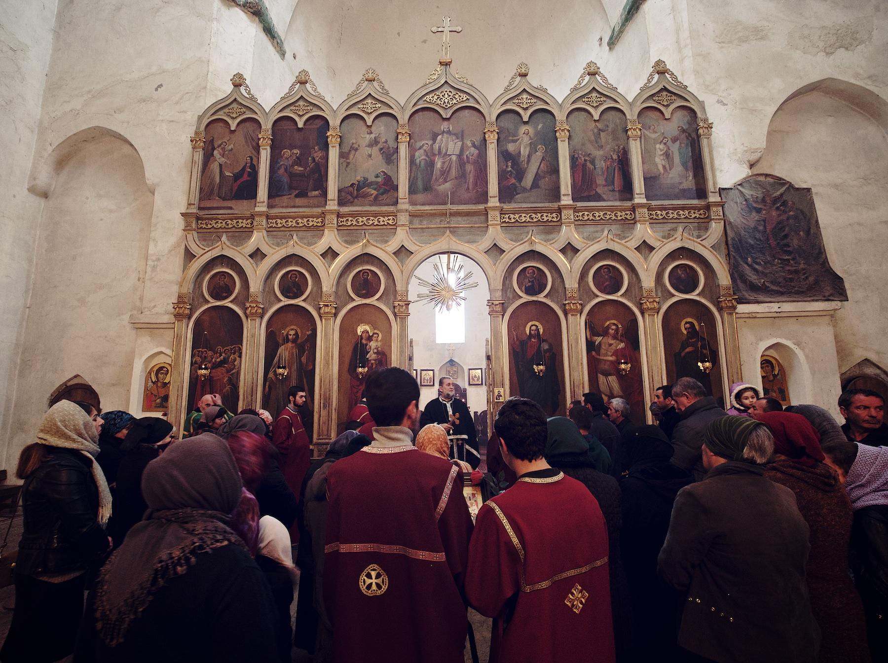 Inside Ananuri Church