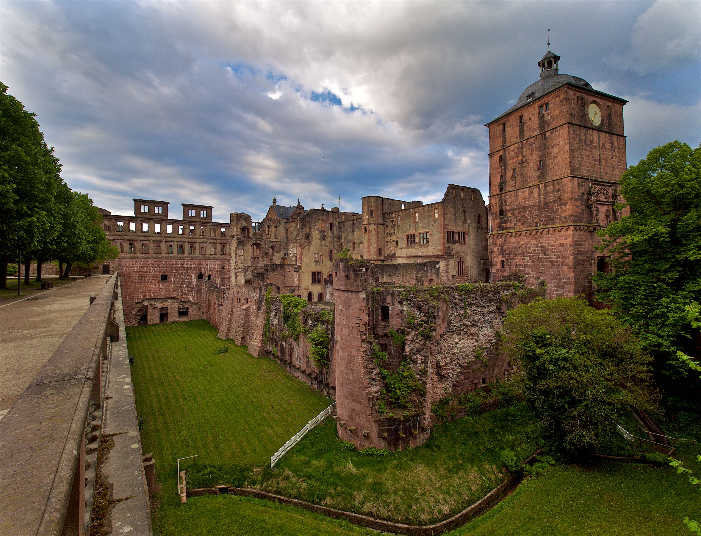 Castle grounds.