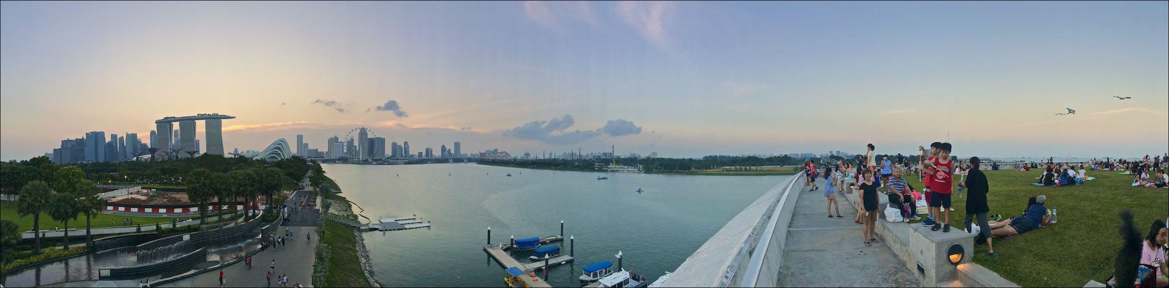 Panorama from Marina Barrage