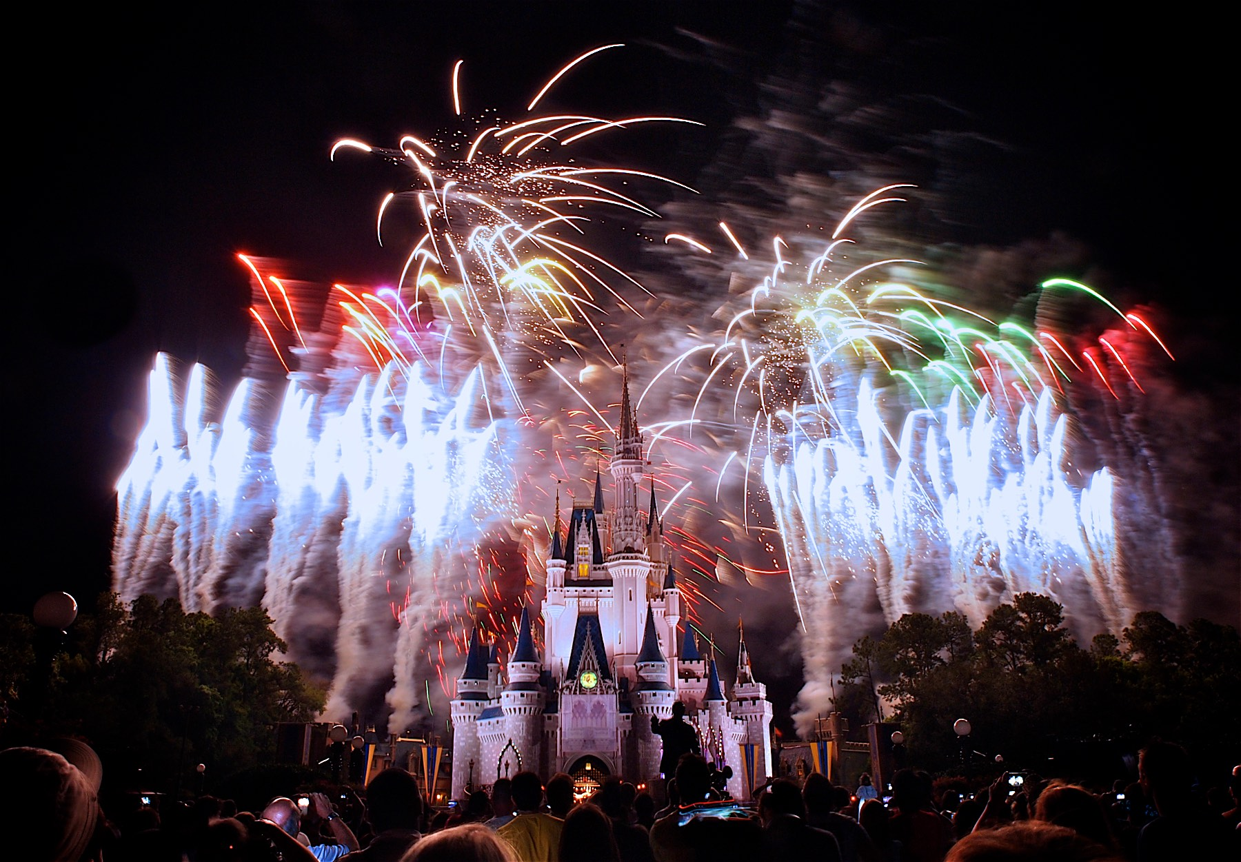 Fireworks at the Happiest Place on Earth