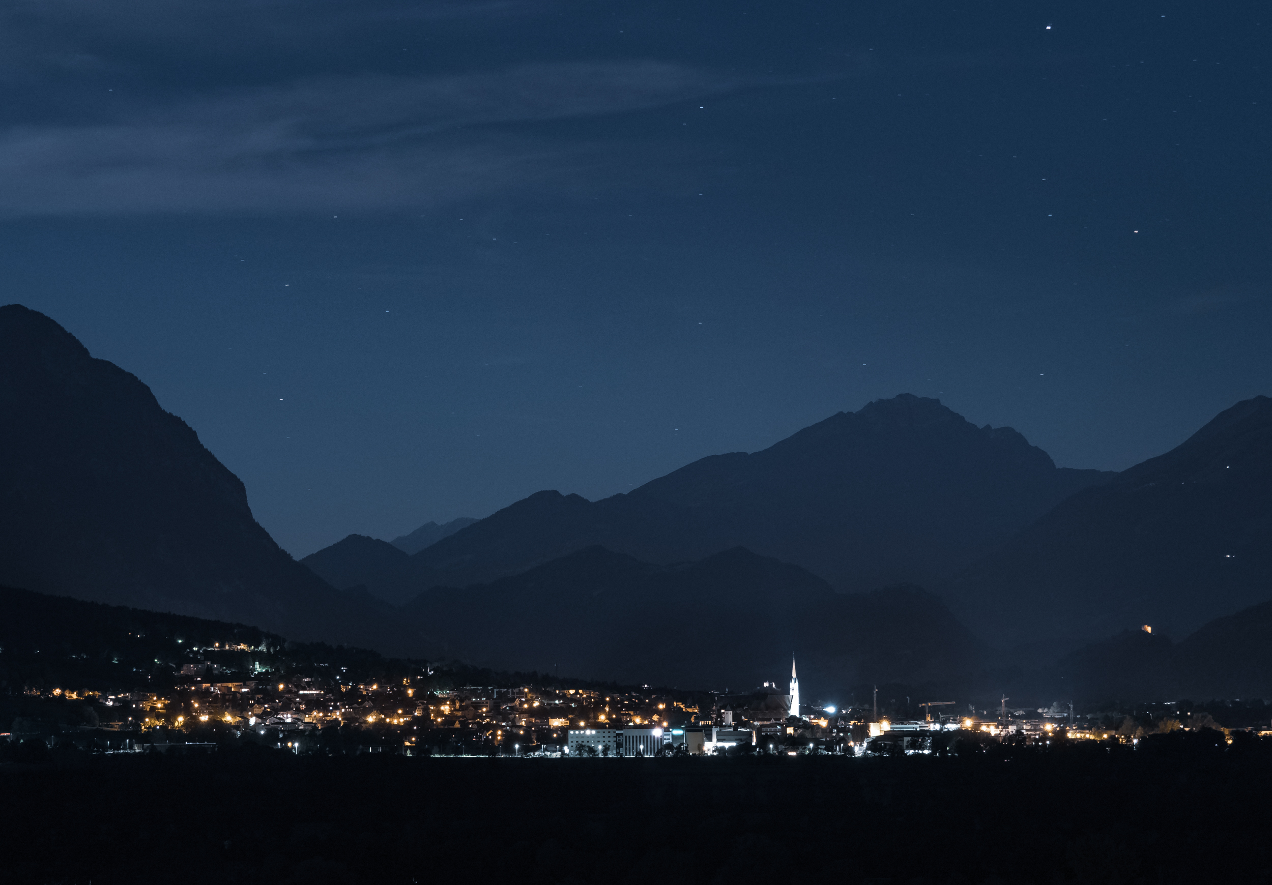 The Alps at Night