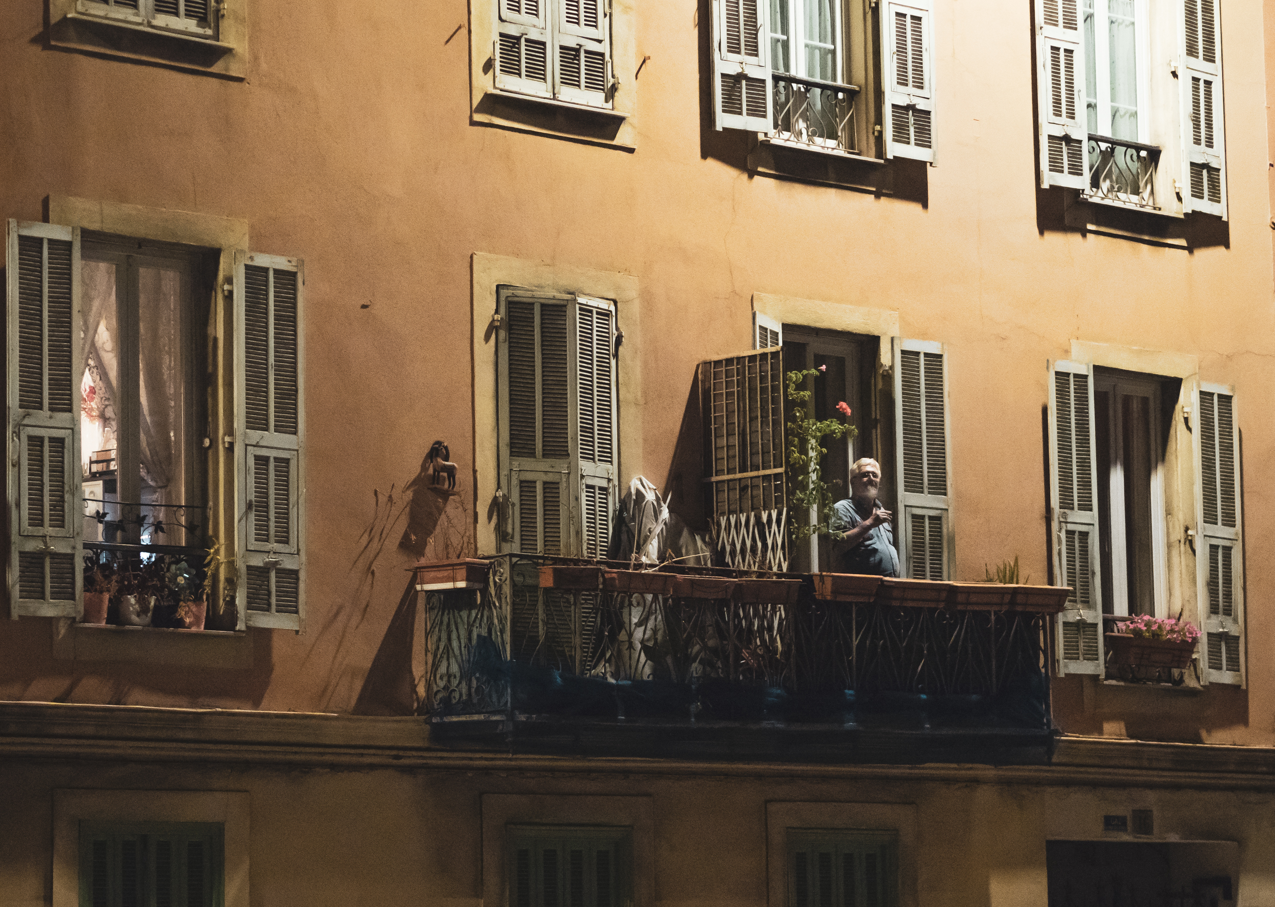 A Cigarette on the Balcony