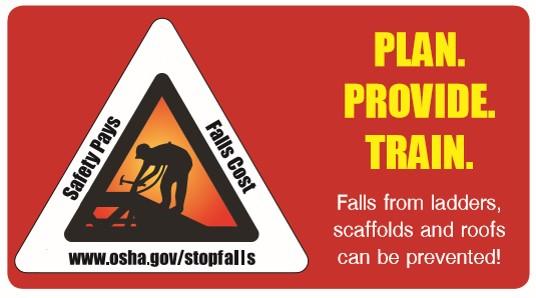 OSHA Pocket Card for fall prevention awareness.