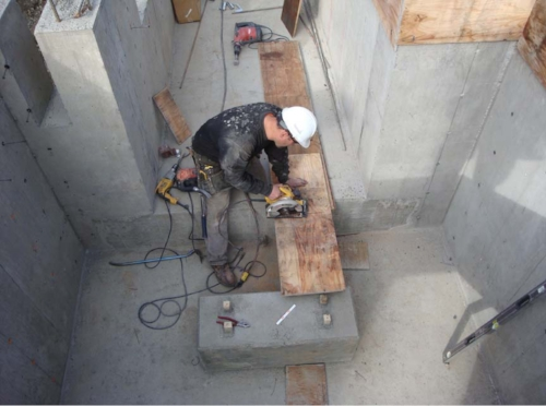 Working in a pit or confined area like this one could be dangerous if a generator or other smoke producing tools are used.