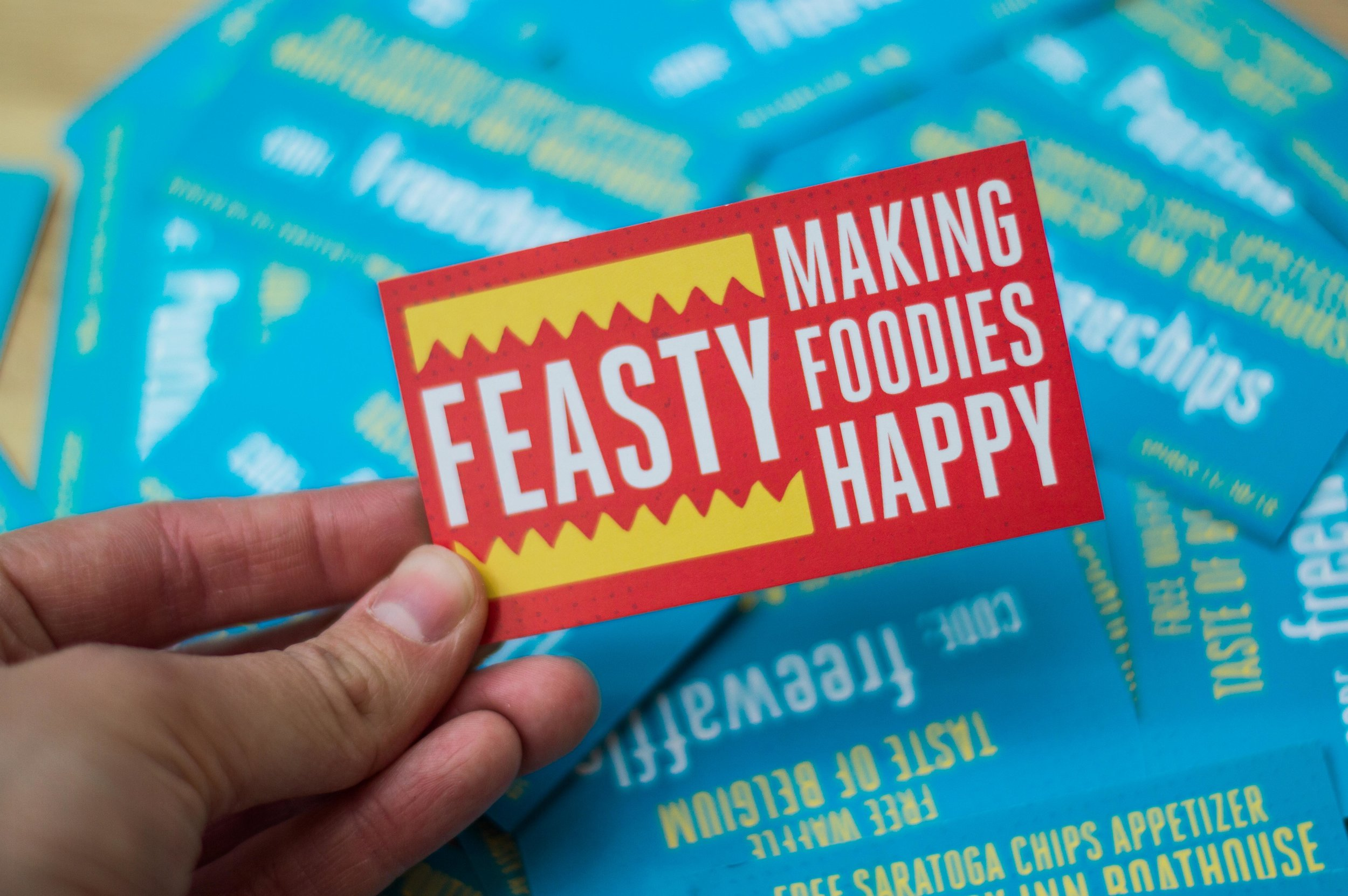 Feasty Giveaway Cards