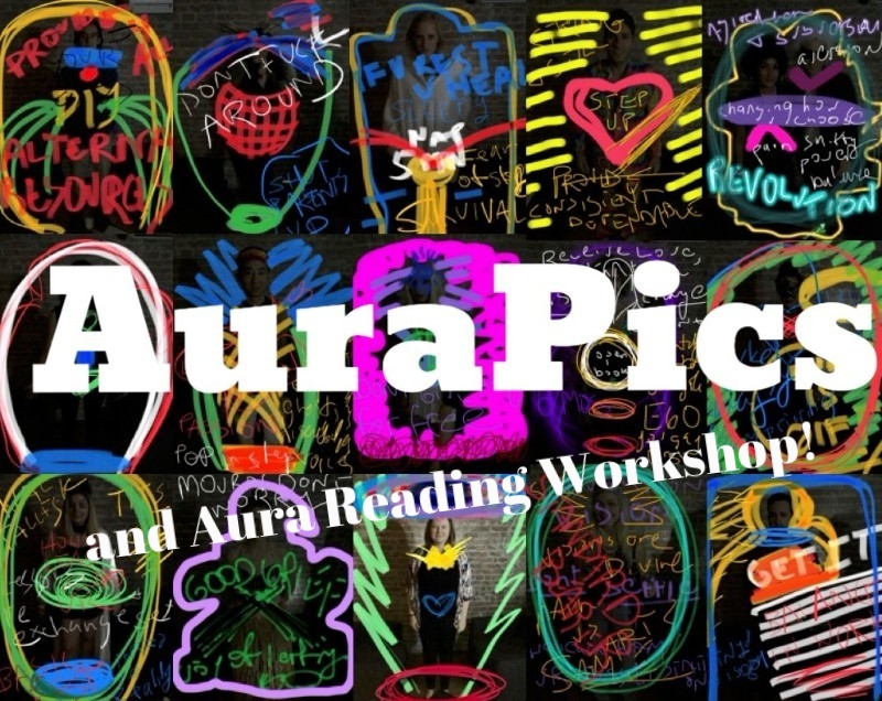 AuraPics Wednesday 10.24 from 12-3 and 4-7, with Aura Reading Workshop from 7-10pm.