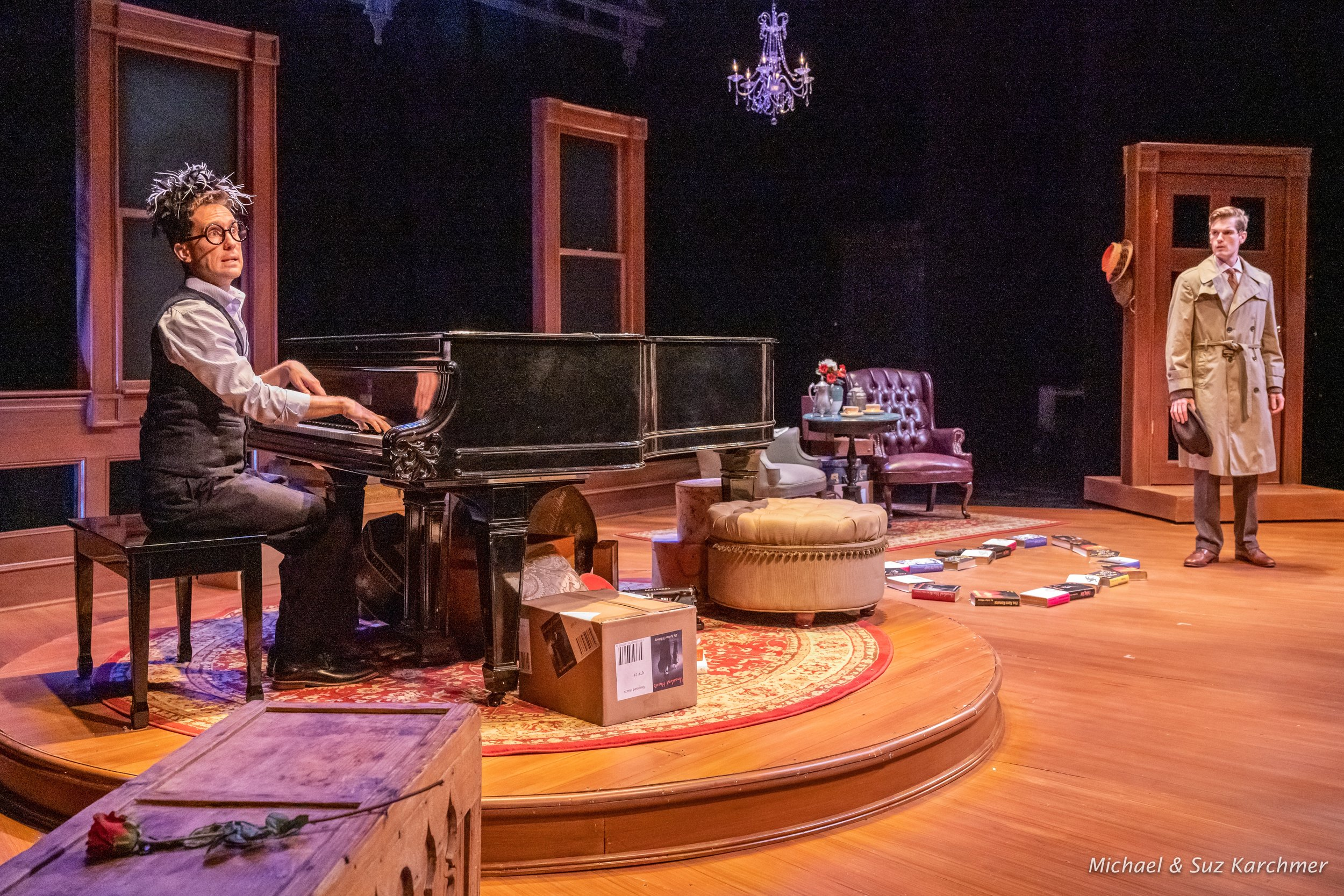 MURDER FOR TWO  at Wellfleet Harbor Actors Theatre Photo by Michael and Suz Karchmer