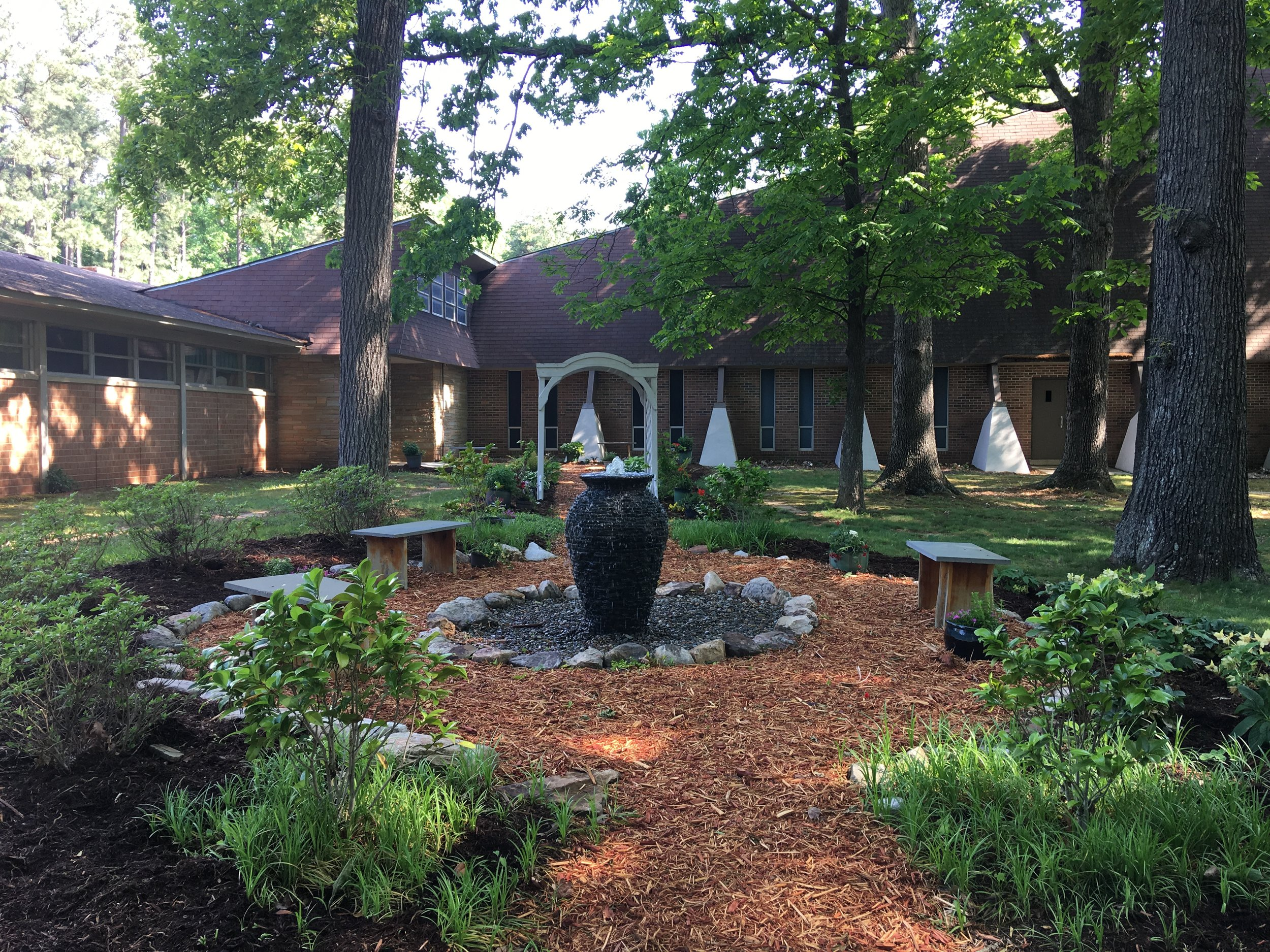 Prayer Garden in the springtime