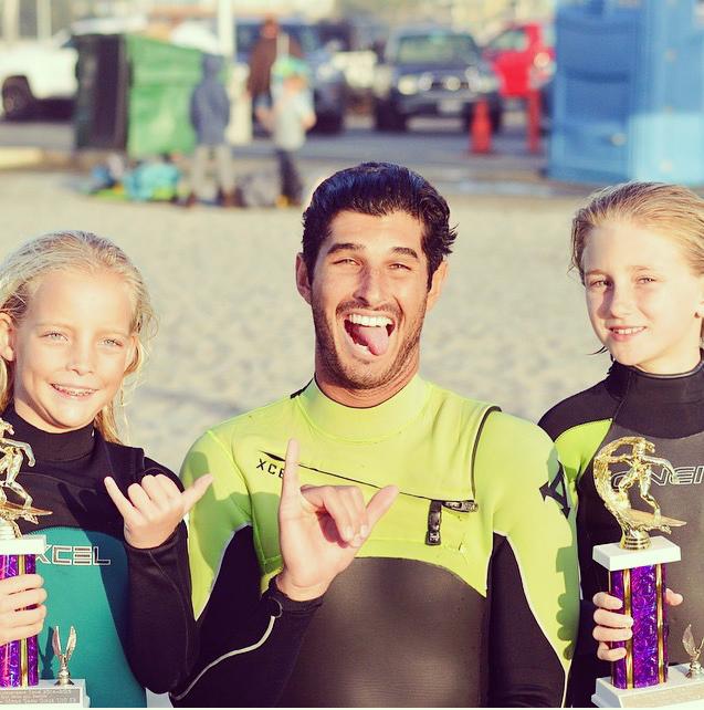 Sierra Downer, Collin Crook, and Kili Garrett celebrating Sierra's 5th place and Kili's 6th place overall in their division!