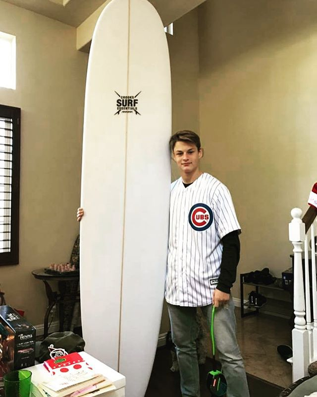 MERRY CHRISTMAS FROM ALL OF US HERE AT CROOK'S SURF ESSENTIALS!!! 🌊🏄 Santa was nice enough to help us out and deliver this #crookssurfessentials longboard to this lucky customer and surf student, Anthony Nolfo!! Stoked to see you ride it Anthony!! Merry Christmas! 🎅🏽🎁☃️⛄️😎 #surfboard #present #christmas #merrychristmas #chrismaspresent #surfing #surfer #surflessons #newboard #newtoy #student #lessons #customsurfboards #ordernow