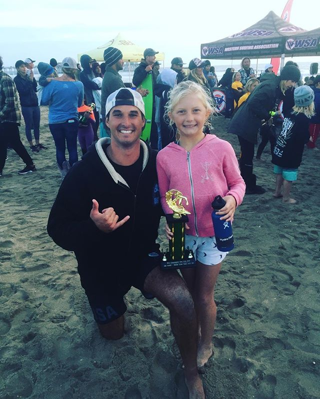 Head Coach @crazy_crookster and #crookssurfessentials surfer @downer111 had a great time at the @surfwsa surf contest in Huntington Beach this weekend! Conditions were really tough but Catalina Downer's hard work paid off! She got 1st place in her first heat and then got 3rd place in the finals for the Girls U10 Division! Great job Catalina! 😎🤘👍🌊🏄🏄‍♀️ #surf #surfer #surfing #surfcontest #compete #competition #team #sport #active #lifestyle #activelifestyle #practice #hardwork #surfcoach #surflessons #health #healthy #healthylifestyle #waterman #oceanlife #watermen