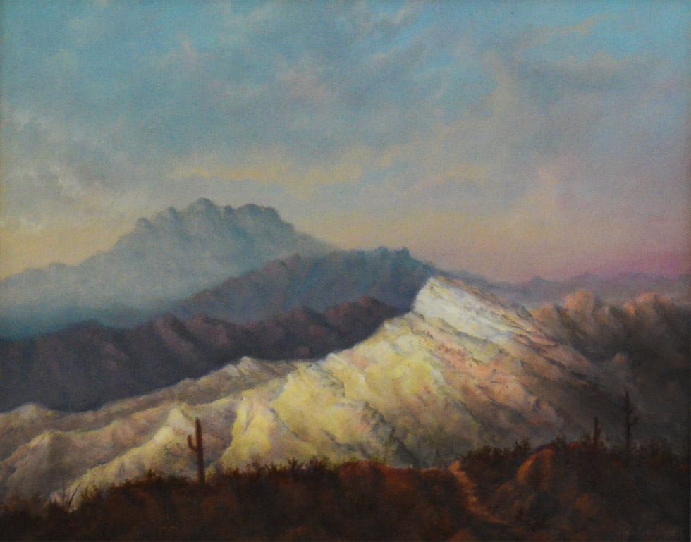 Sonoran View, oil on canvas © 2015 Kenton Hyatt
