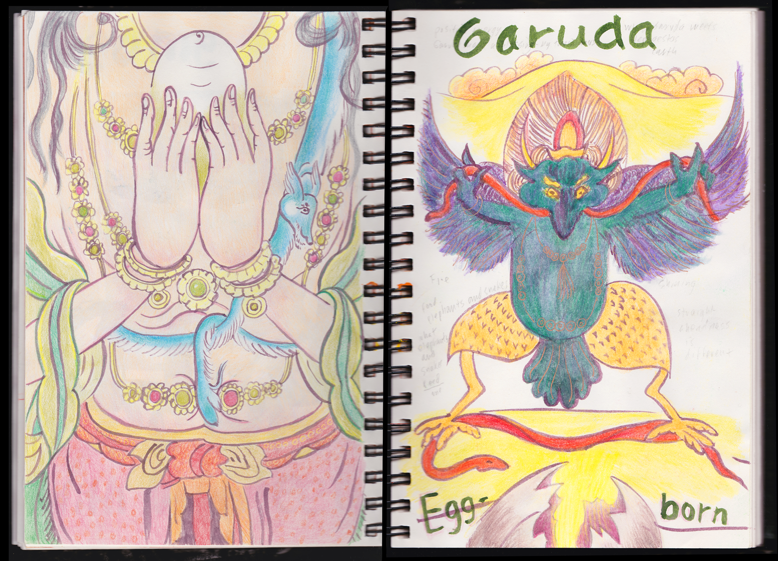 Cosmic Egg and Garuda