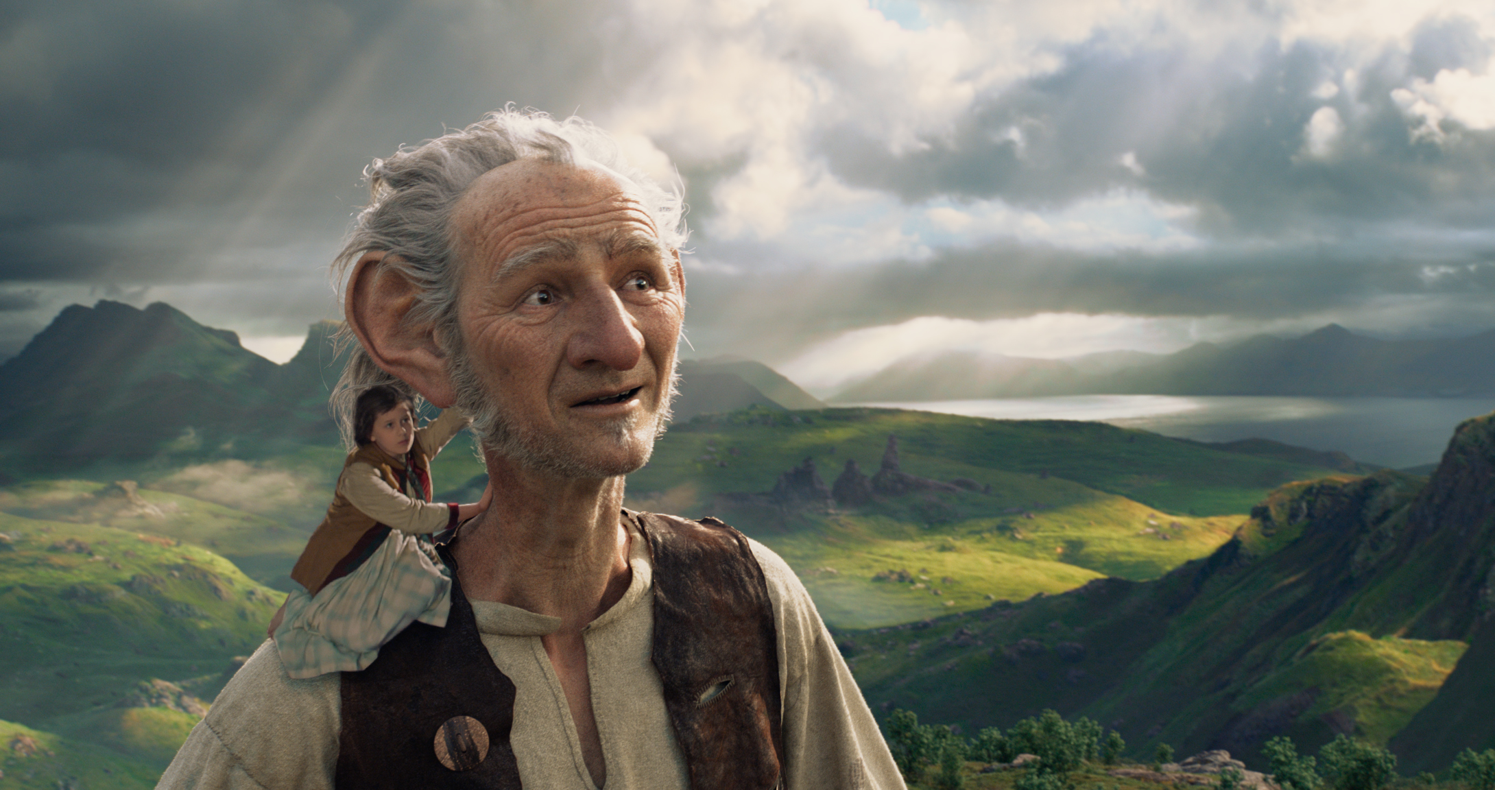The movie's main characters: BFG (Big Friendly Giant) and Sophie.