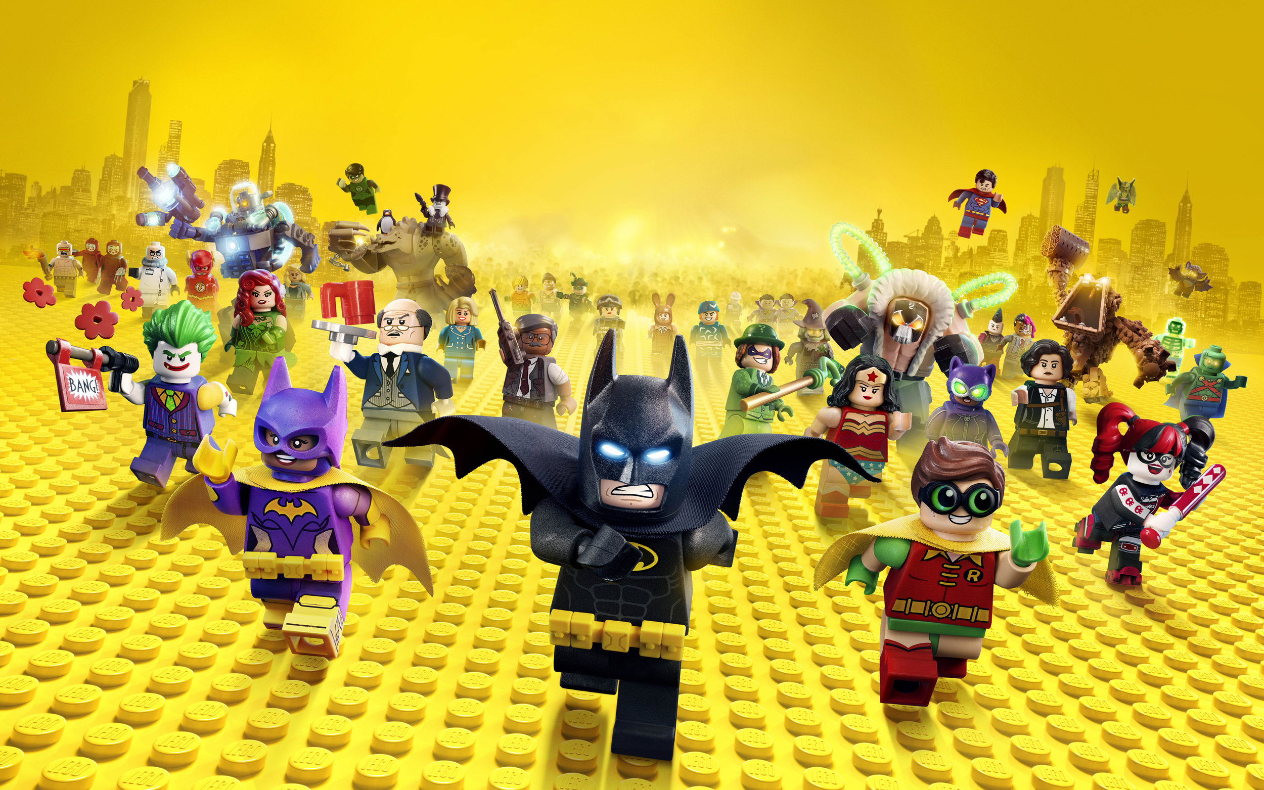 LEGO Batman along with tons of other characters in the film you will probably recognize.