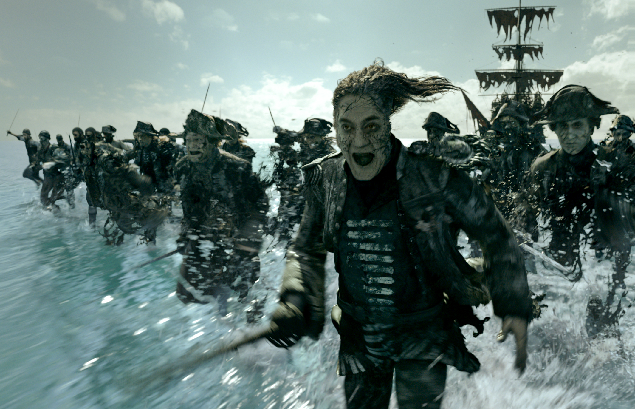Captain Salazar (Bardem)and his cursed crew. Pretty terrifying right?