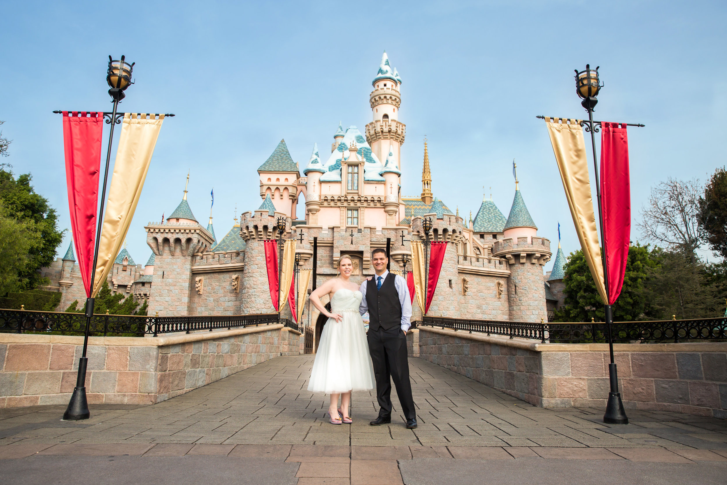 The most epic shot of all: front and center of Sleeping Beauty's Castle!
