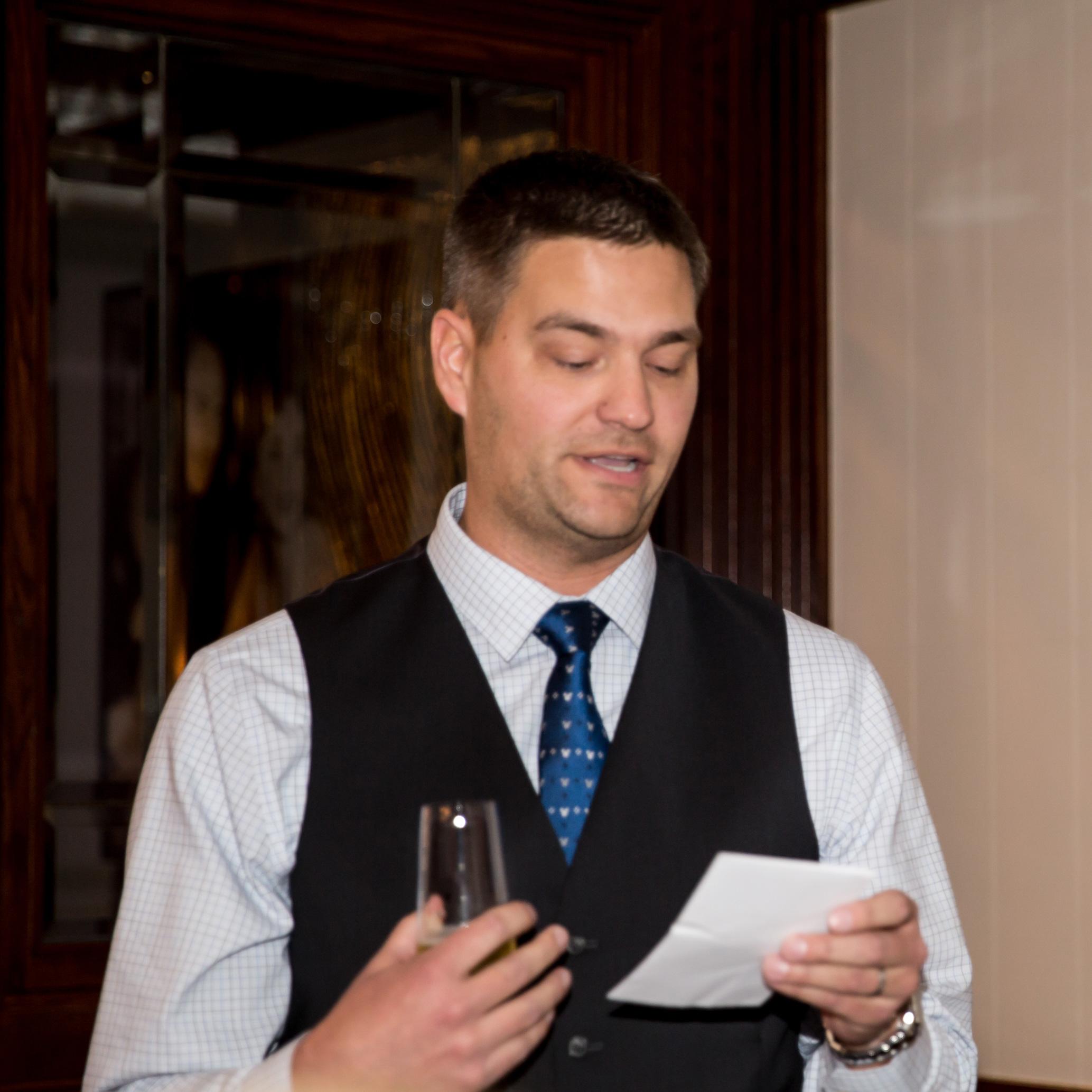 Andrew reading his poem.