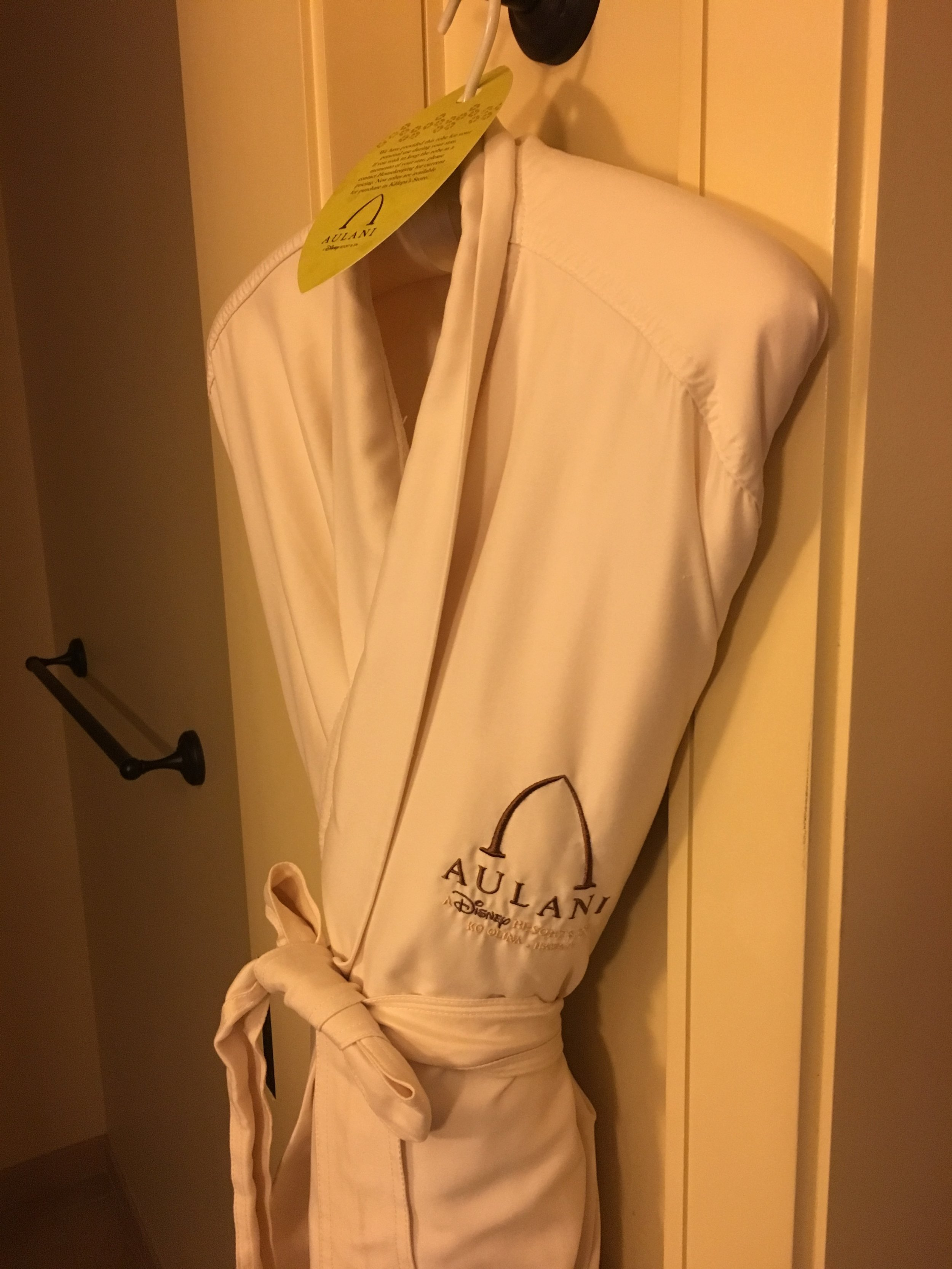 There were two lovely robes in the room.