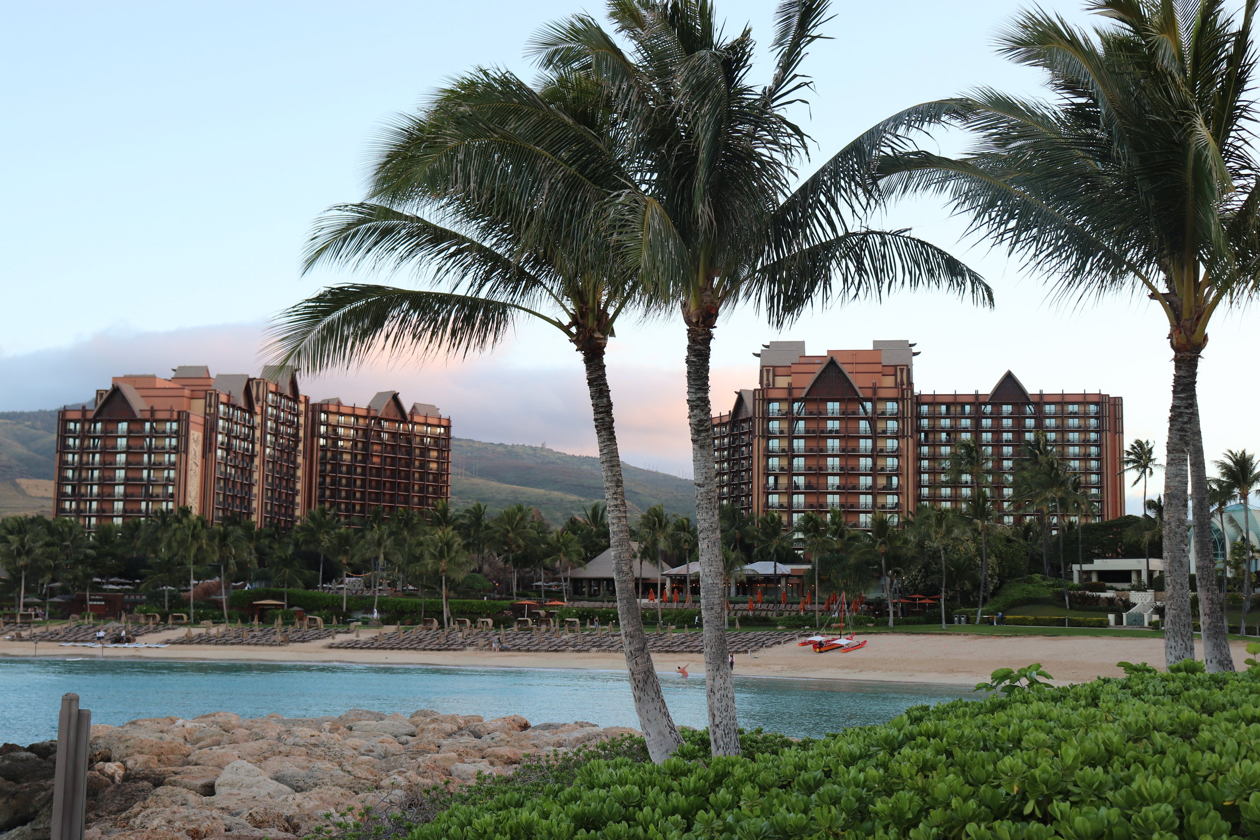 We took this picture from the water side of the resort.