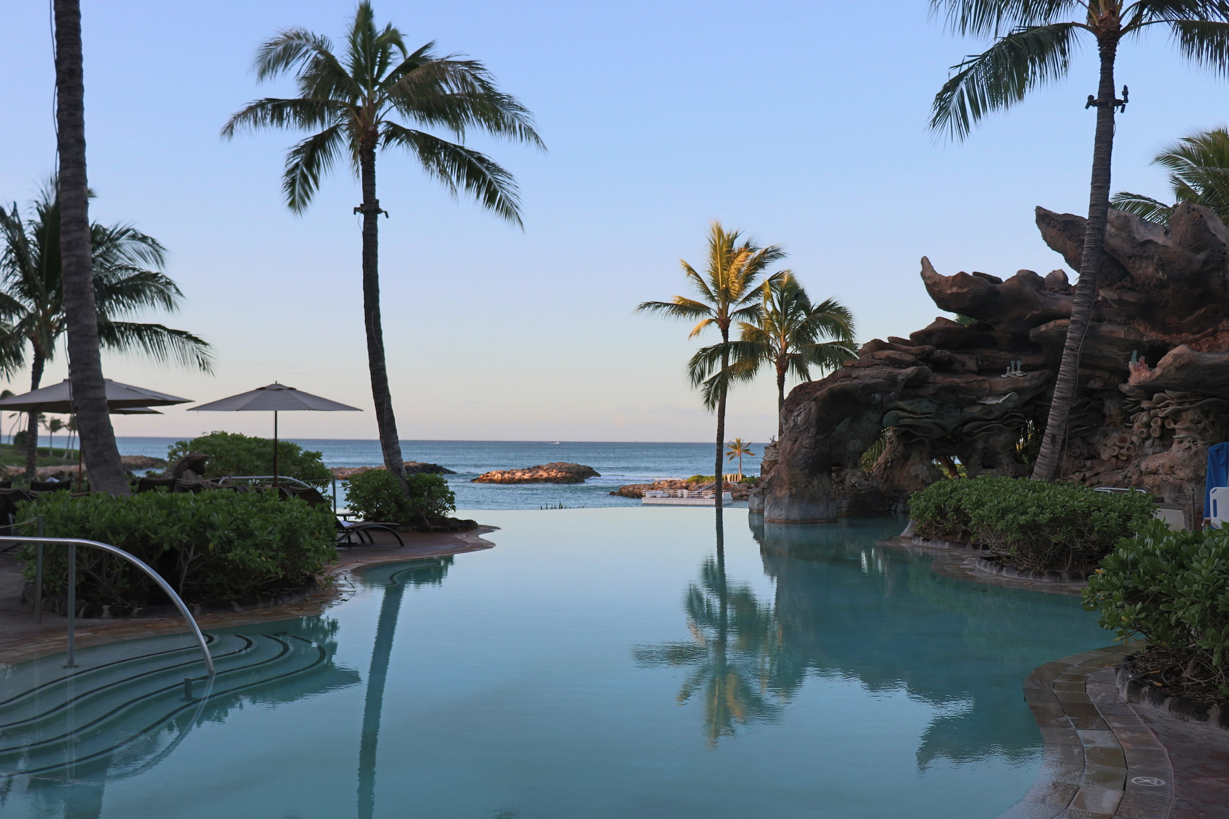 This infinity pool featured whale noises under the water.
