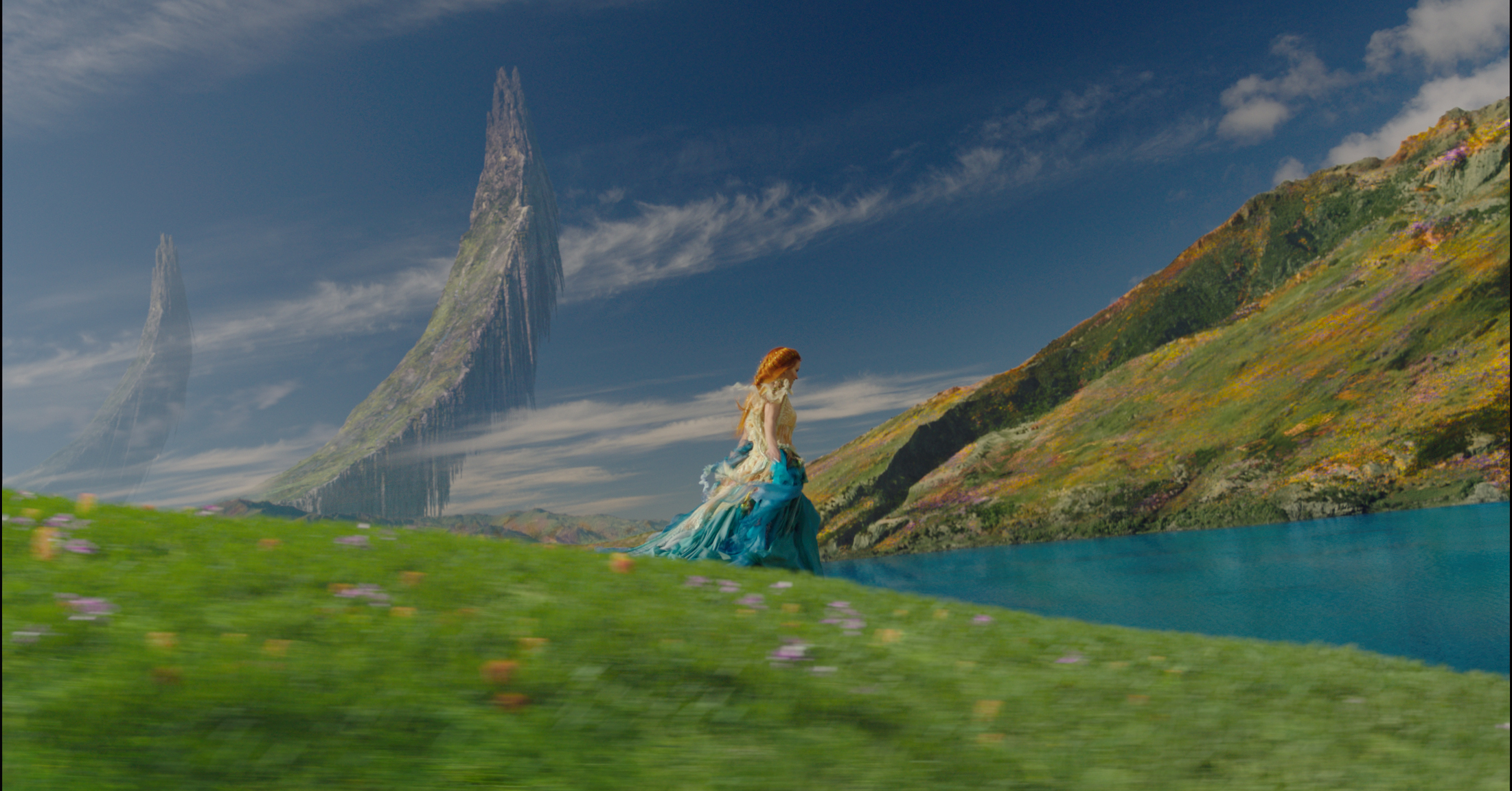 An example of some of the stunning scenery in the movie. Kind of like the Sound of Music turned Sci Fi don't you think?