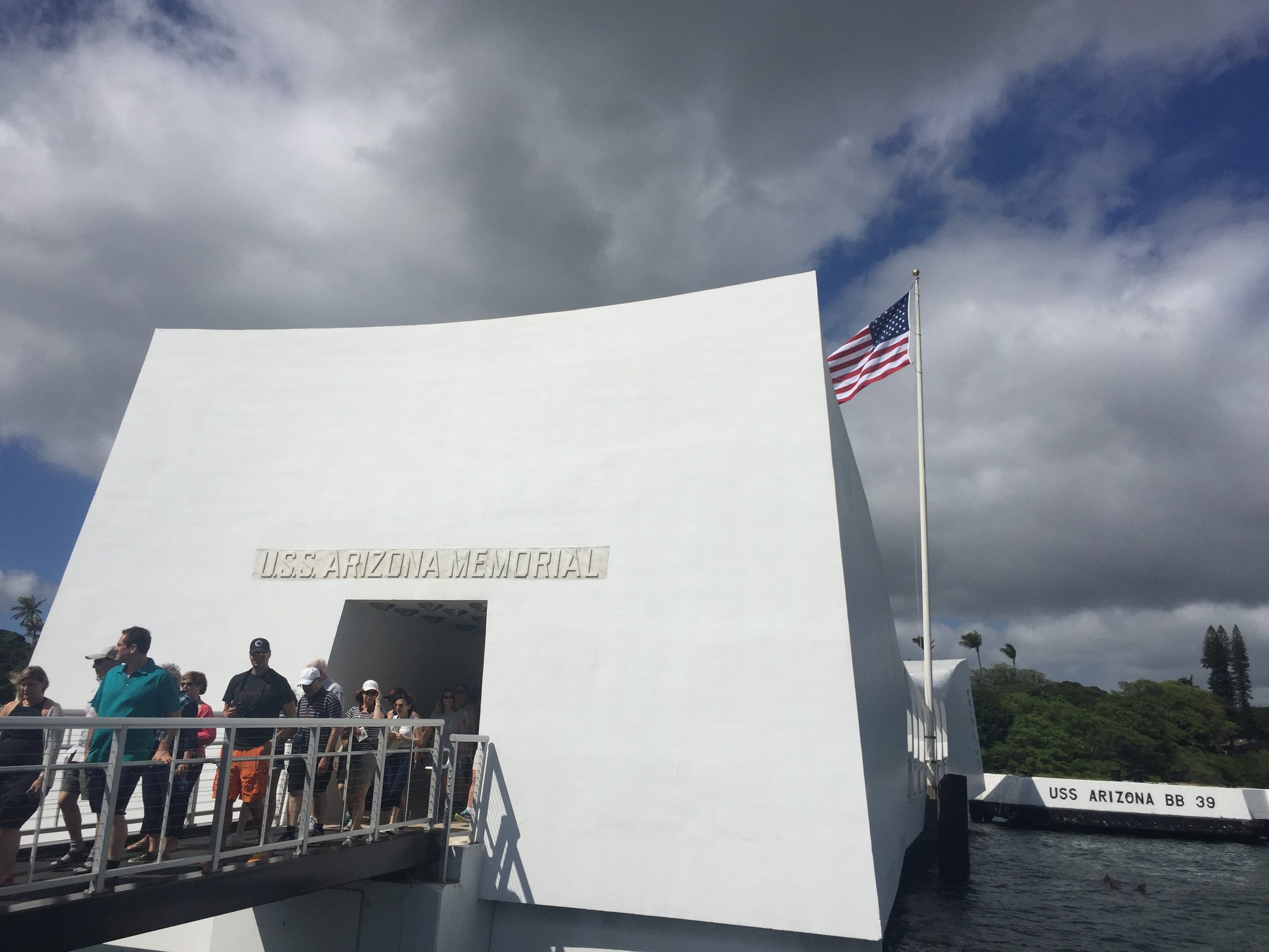The walkway onto the USS Arizona Memorial.