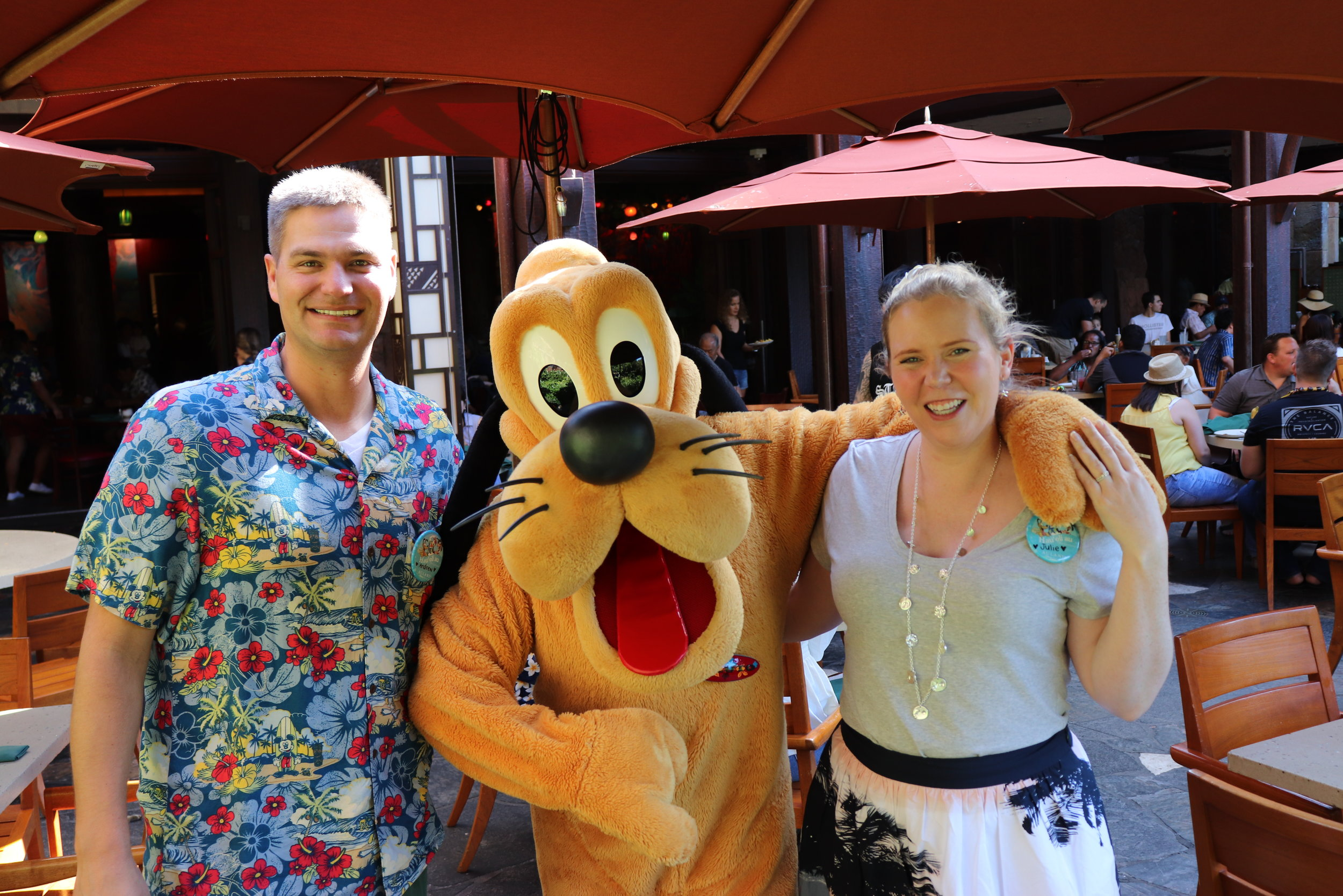Pluto is so dog-gone cute. He actually came by our table twice.