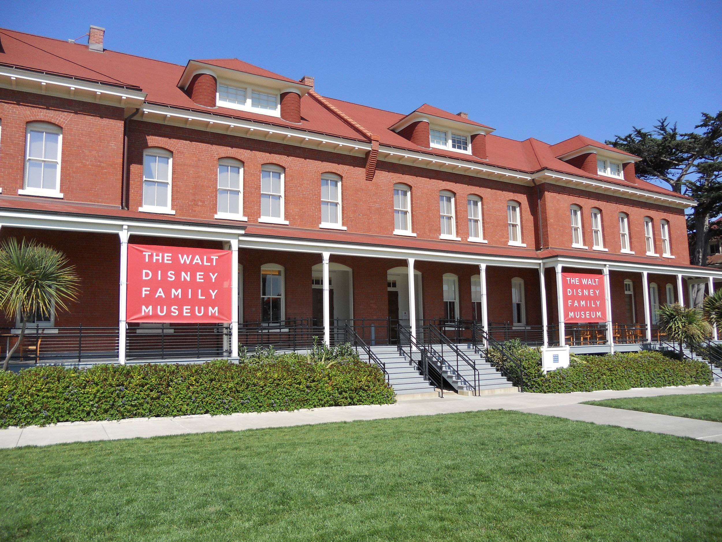 The front of the Walt Disney Museum building.