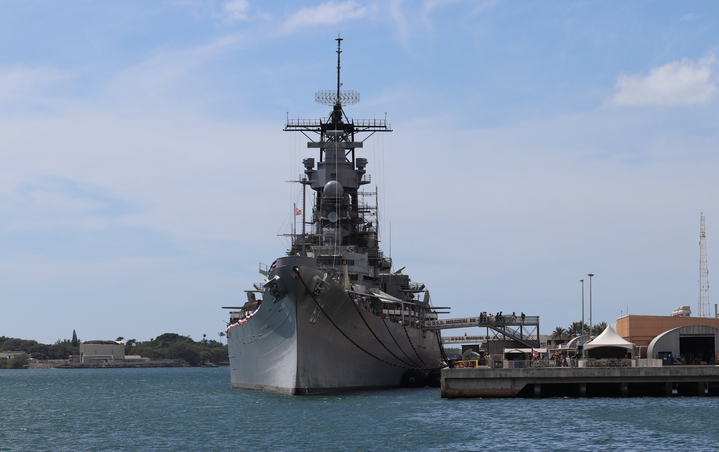 The USS Missouri.