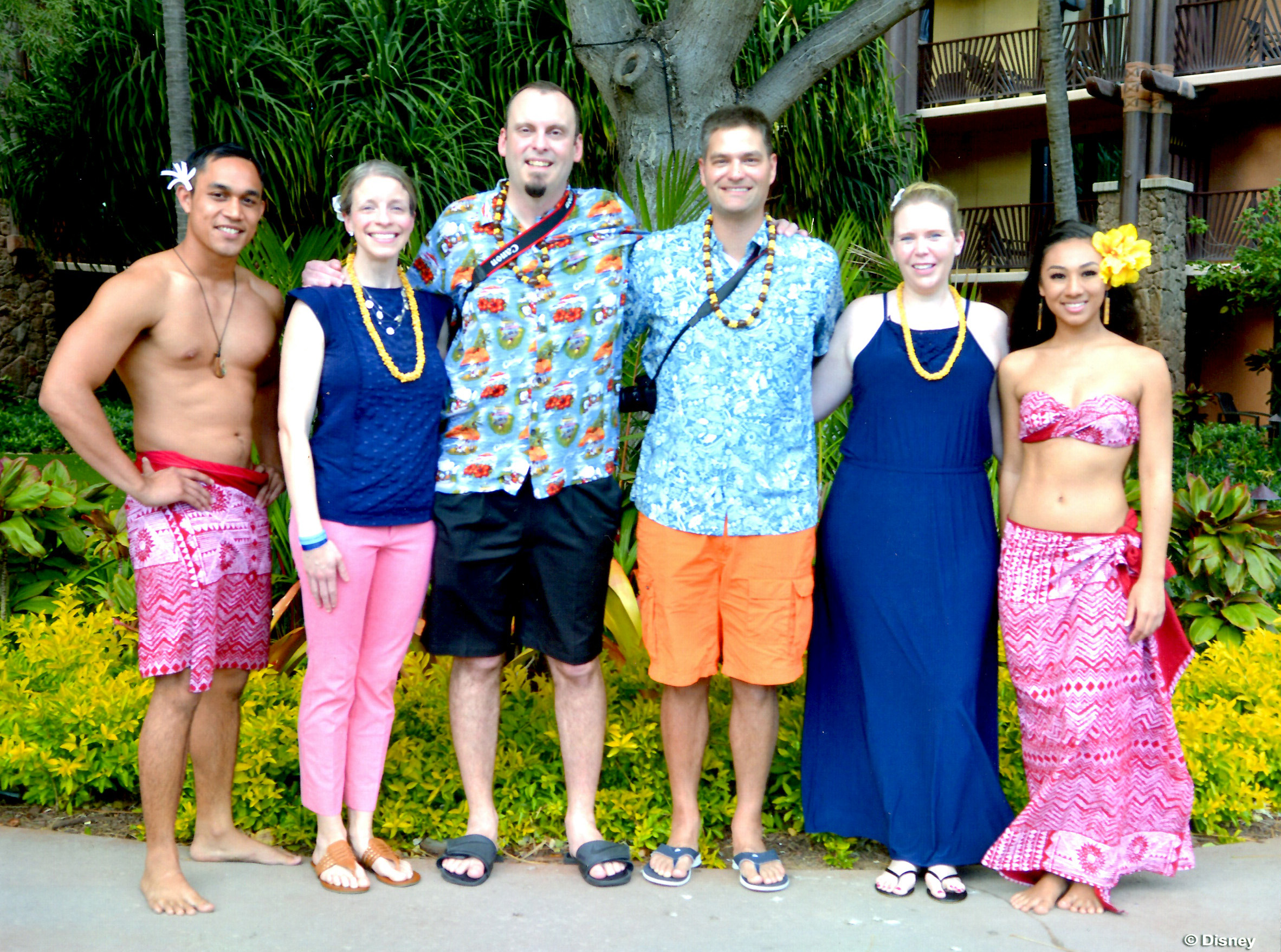 Our VIP group ready to party Hawaiian style!