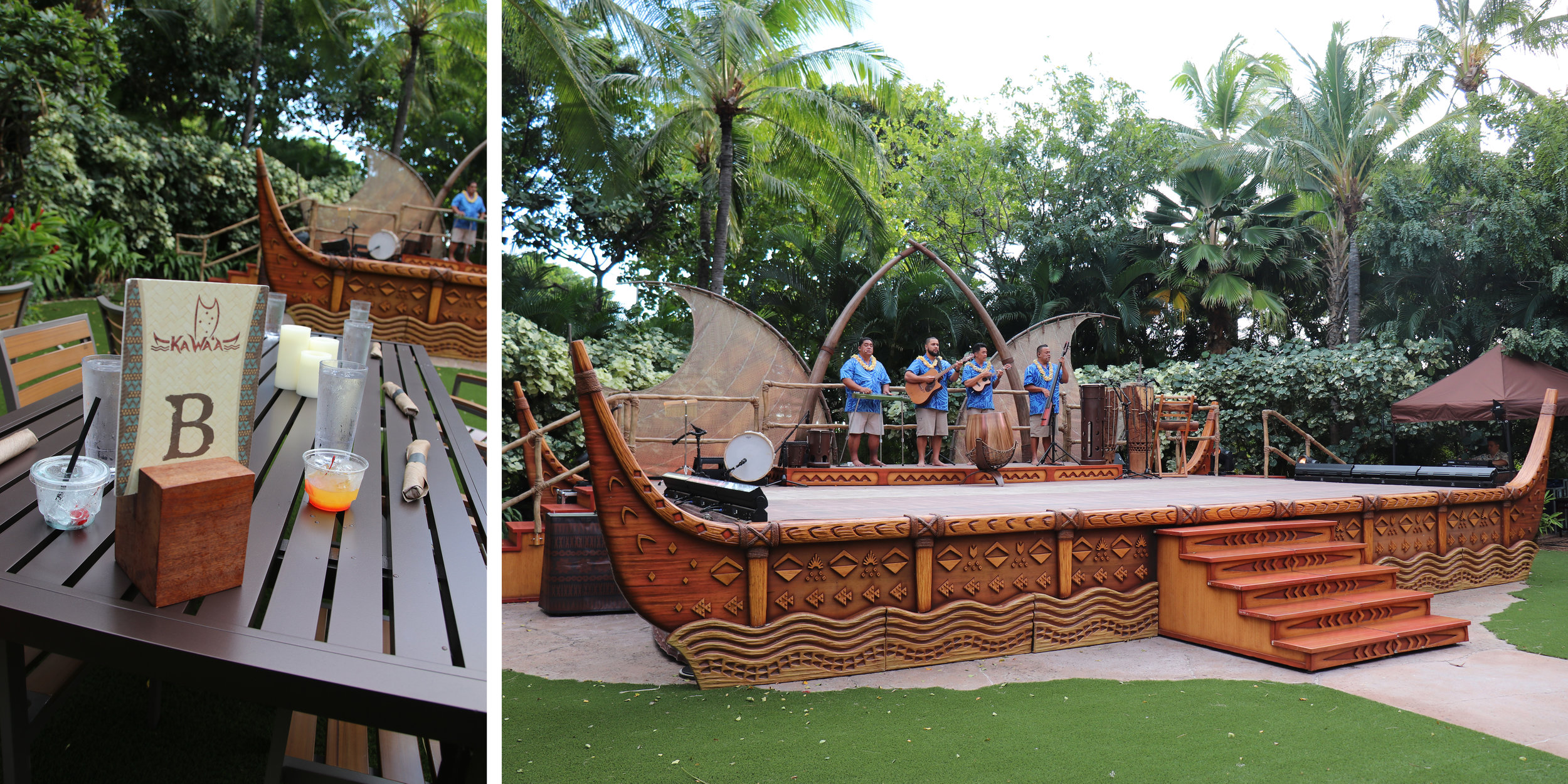 Here was our little VIP table with an epic view of the stage, which was a really cool boat design.