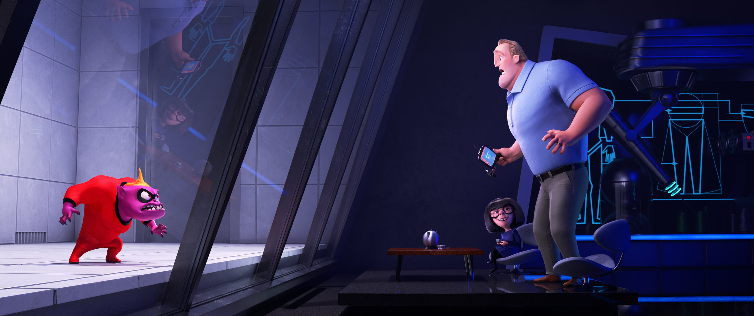 Edna makes a fun cameo to help Mr. Incredible with a little problem.