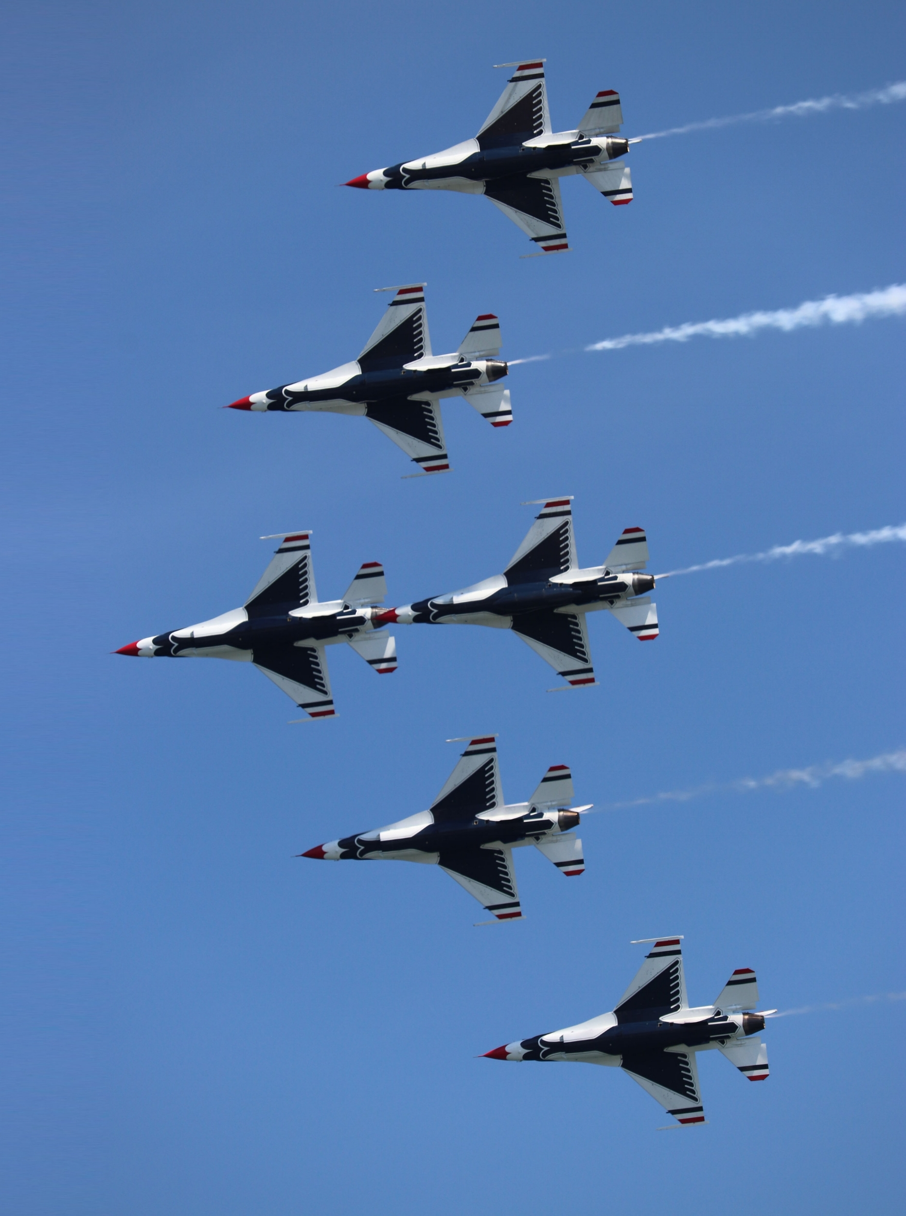 The Thunderbirds in formation.
