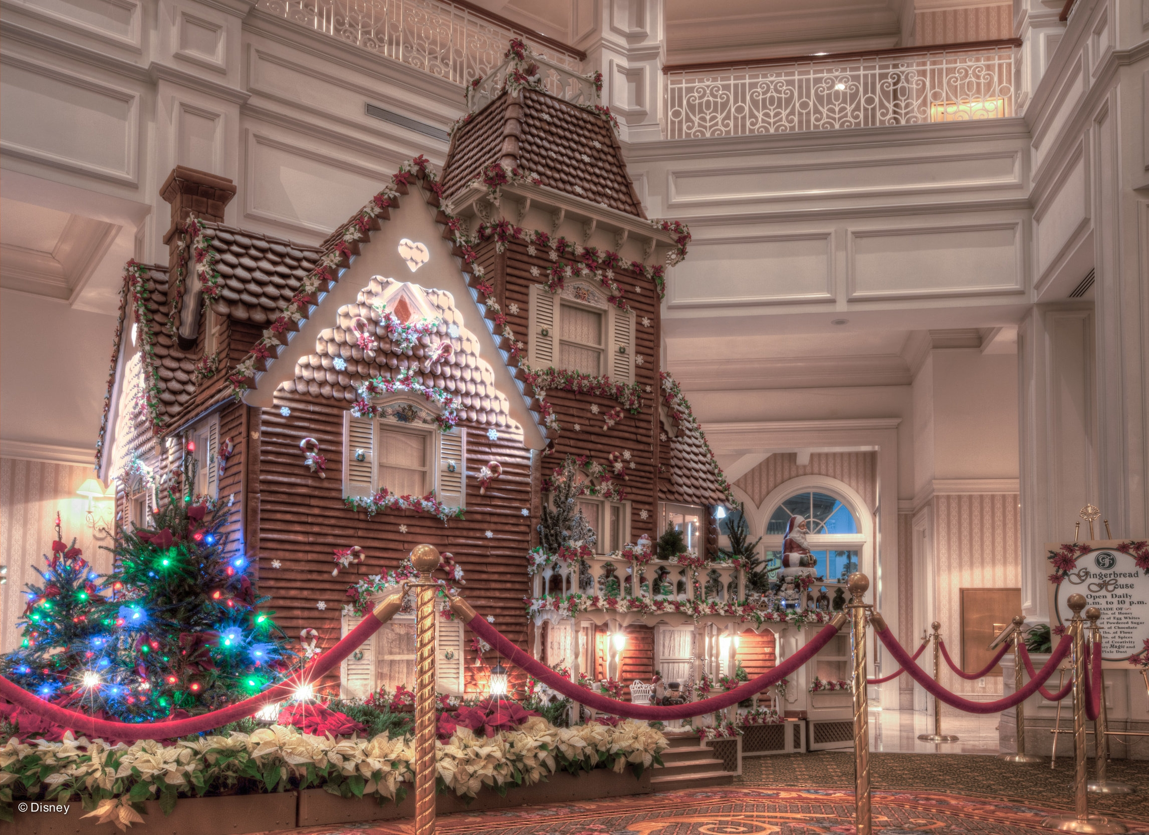 Gingerbread House in the lobby of the Grand Floridian