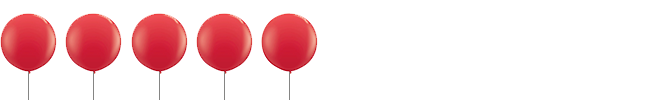 """Her rating: 5 out of 5 """"balloons"""""""