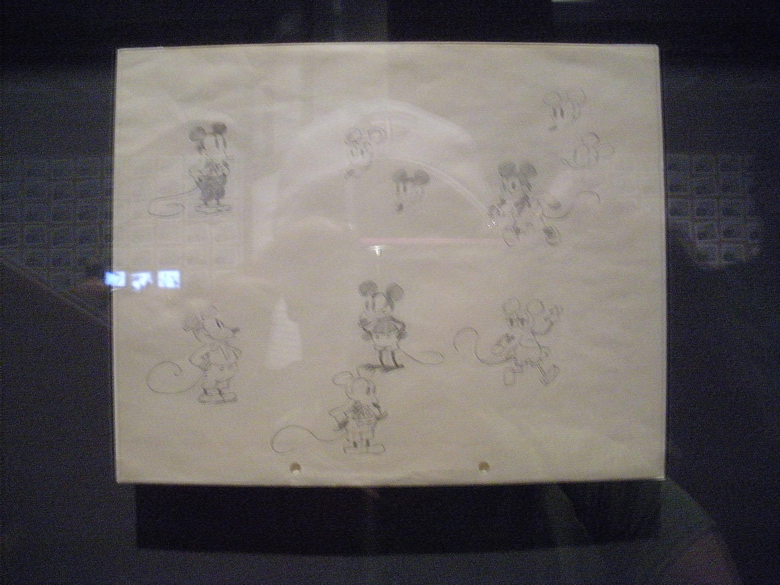Some original sketches by Walt.