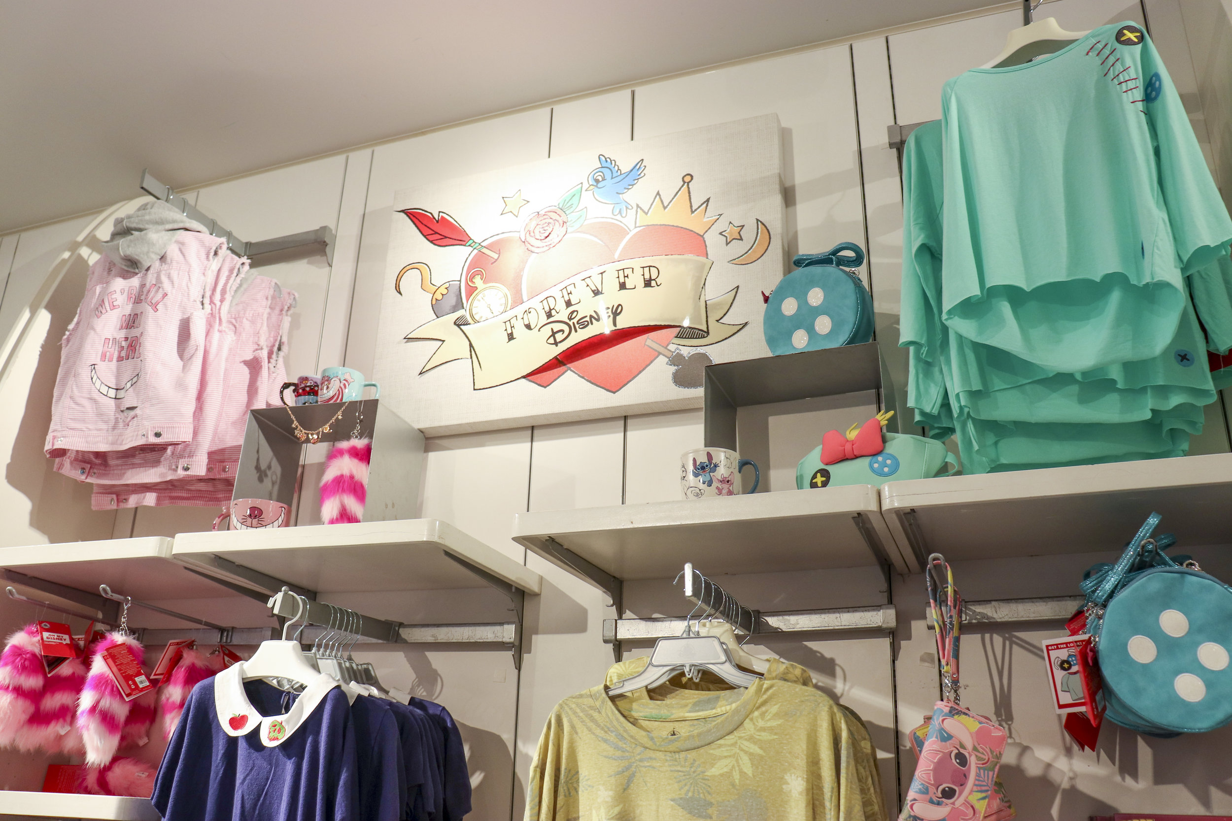 The new Forever Disney section features coordinating collections.