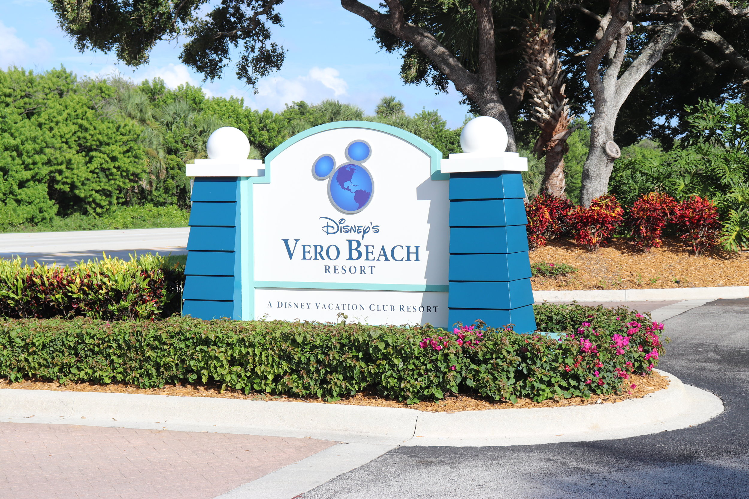 The Welcome sign at the entrance.
