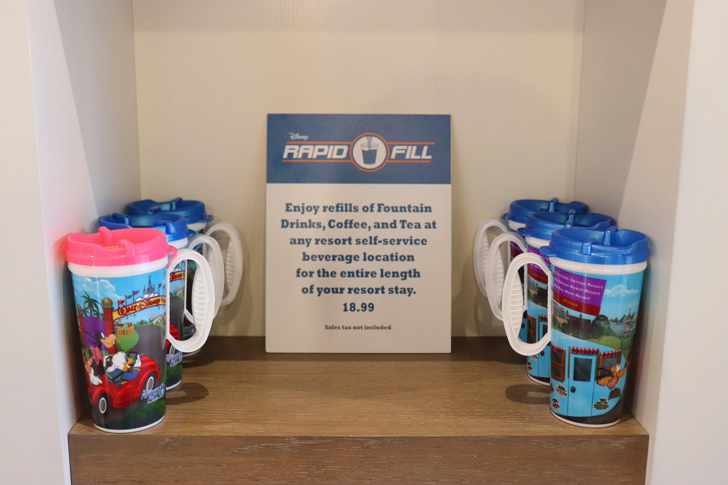 The refillable mugs are the same as WDW resorts.