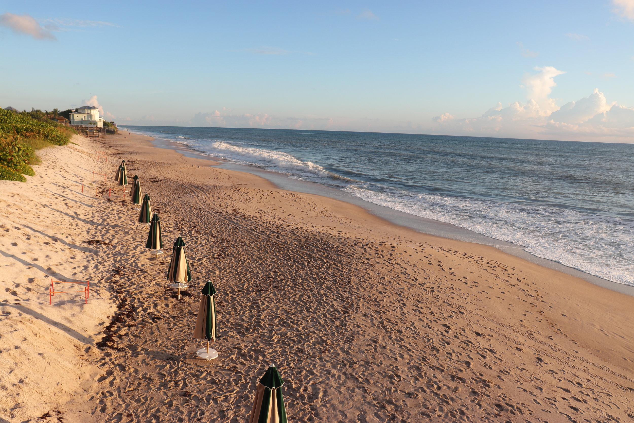 The peaceful beach at Disney's Vero Beach Resort.