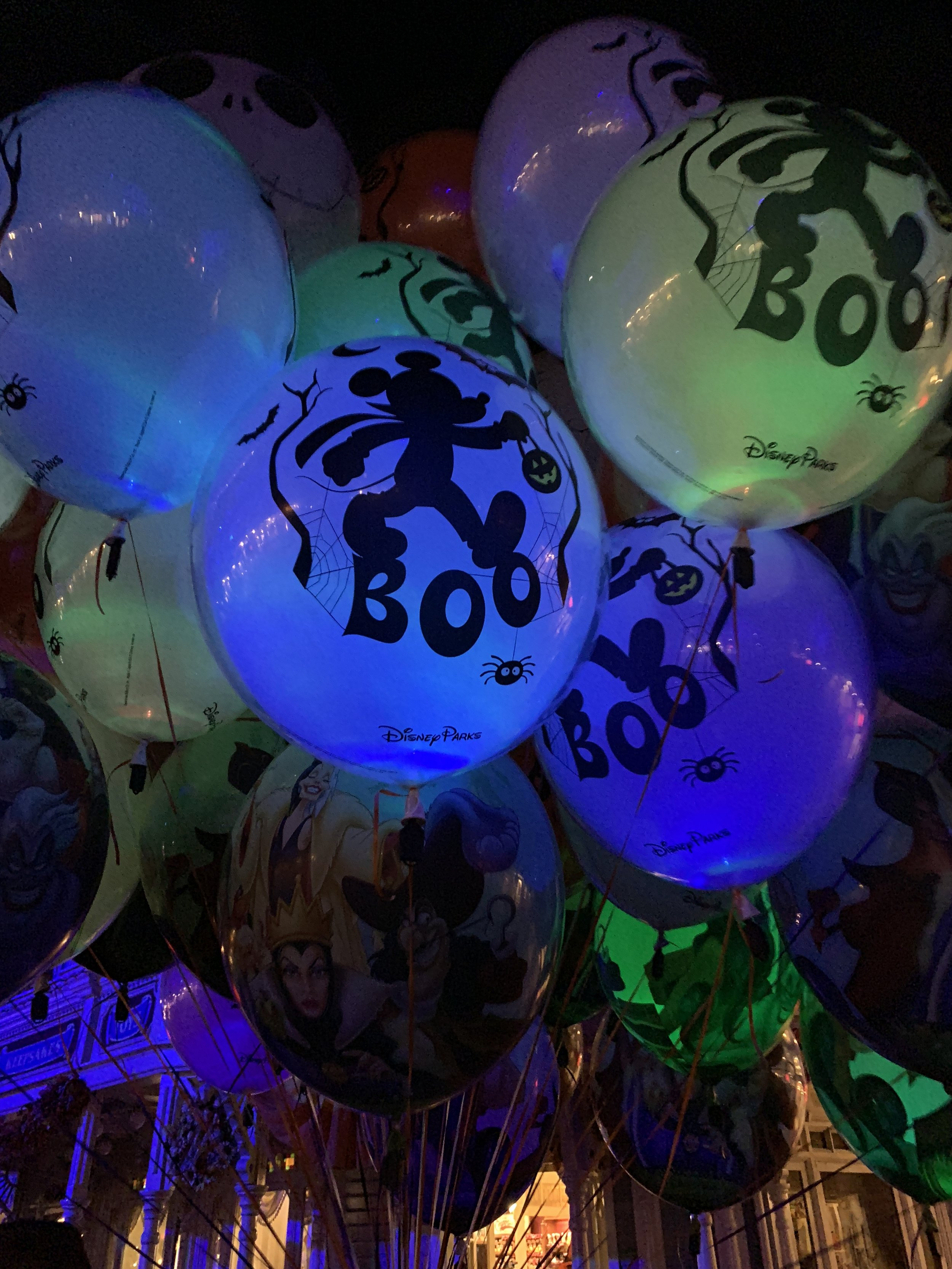 Color changing glowing balloons.