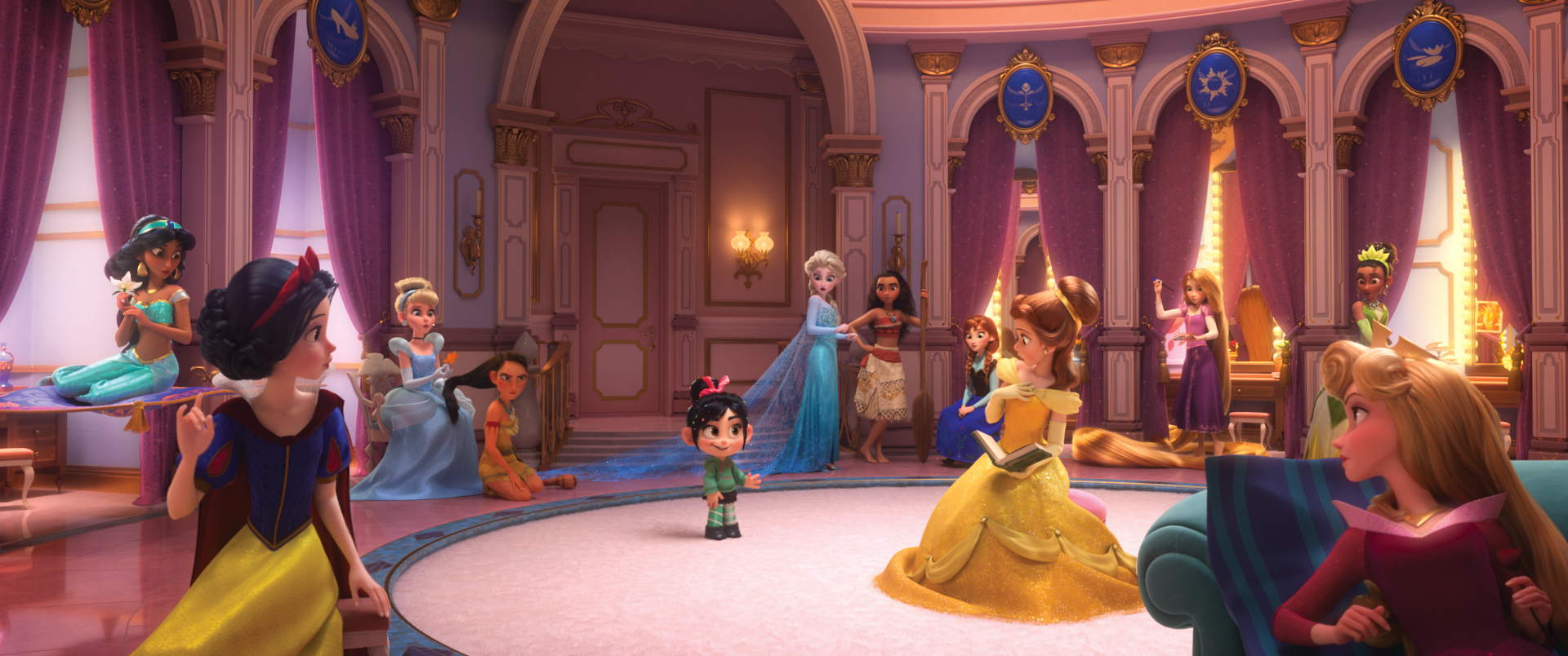 Some of Julie's favorite scenes of the movie feature ALL of the Disney Princesses (voiced mainly by original actors!)