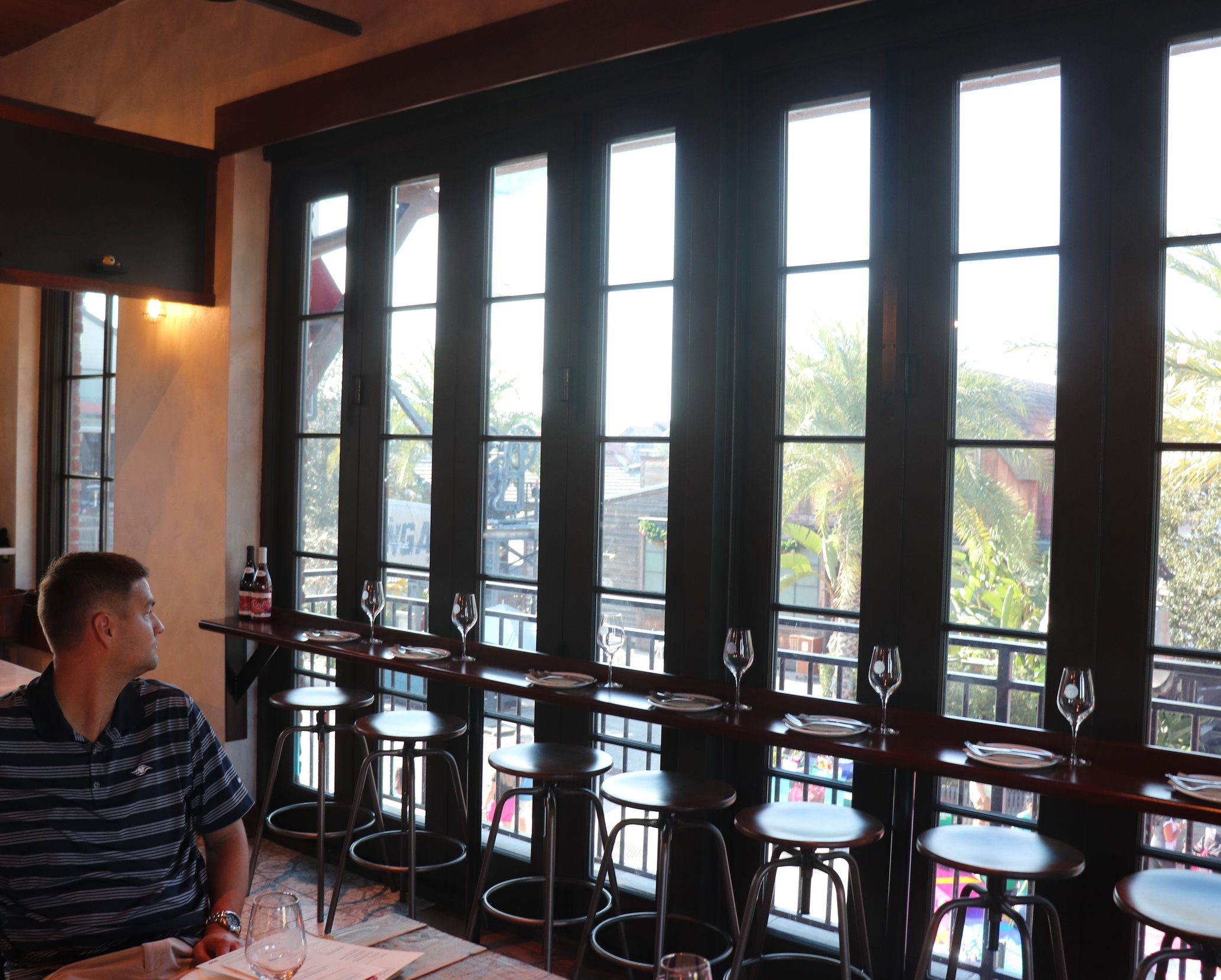 Our table was located near windows overlooking Disney Springs.